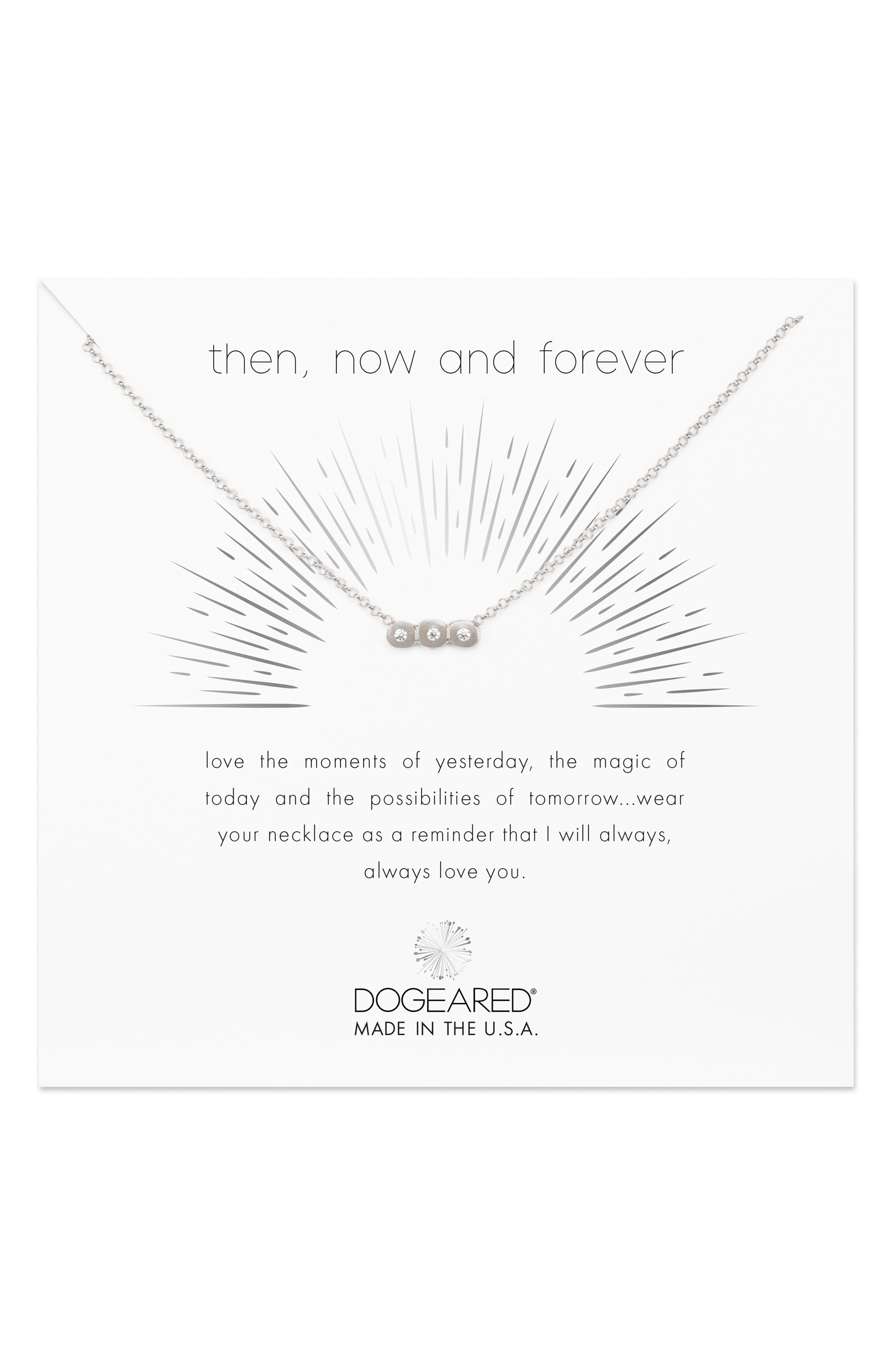 Then Now & Forever Pendant Necklace,                         Main,                         color,