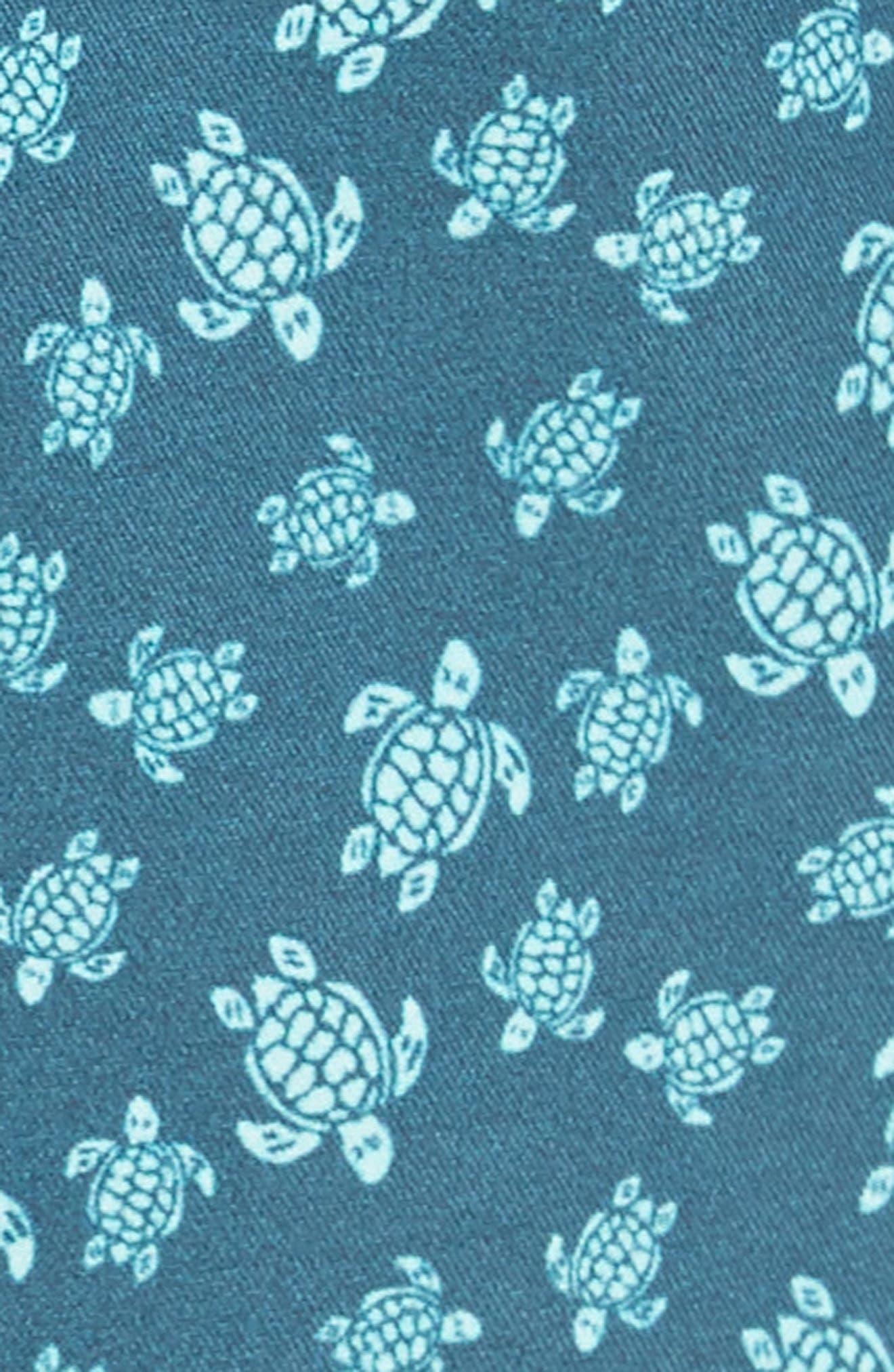VILEBREQUIN,                             Micro Ronde Turtle Swim Trunks,                             Alternate thumbnail 5, color,                             EMBRUNS