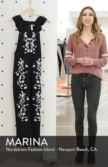 Flounced Embroidered Jumpsuit, sales video thumbnail