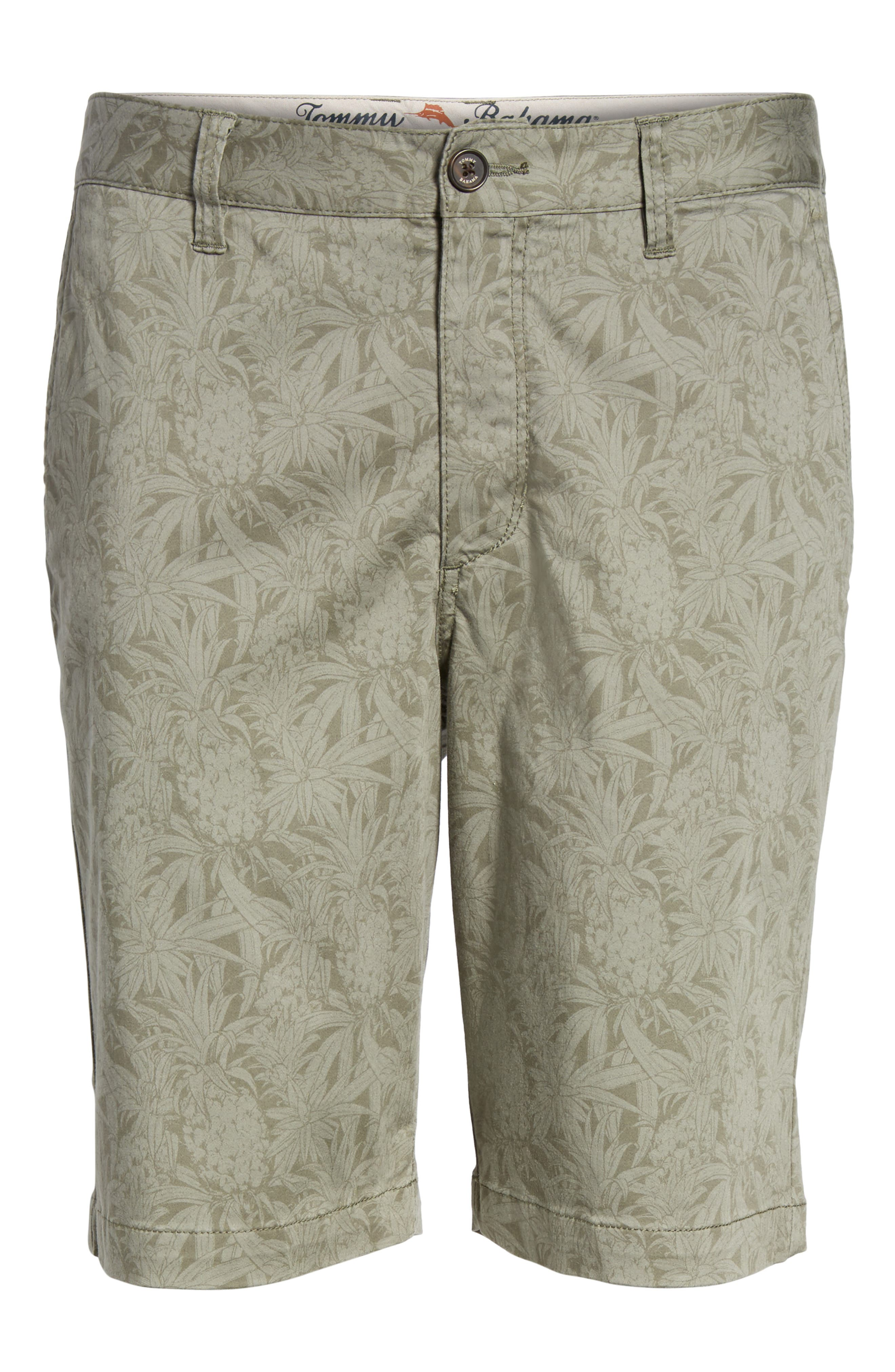 Camo Tropic Standard Fit Chino Shorts,                             Alternate thumbnail 6, color,                             300