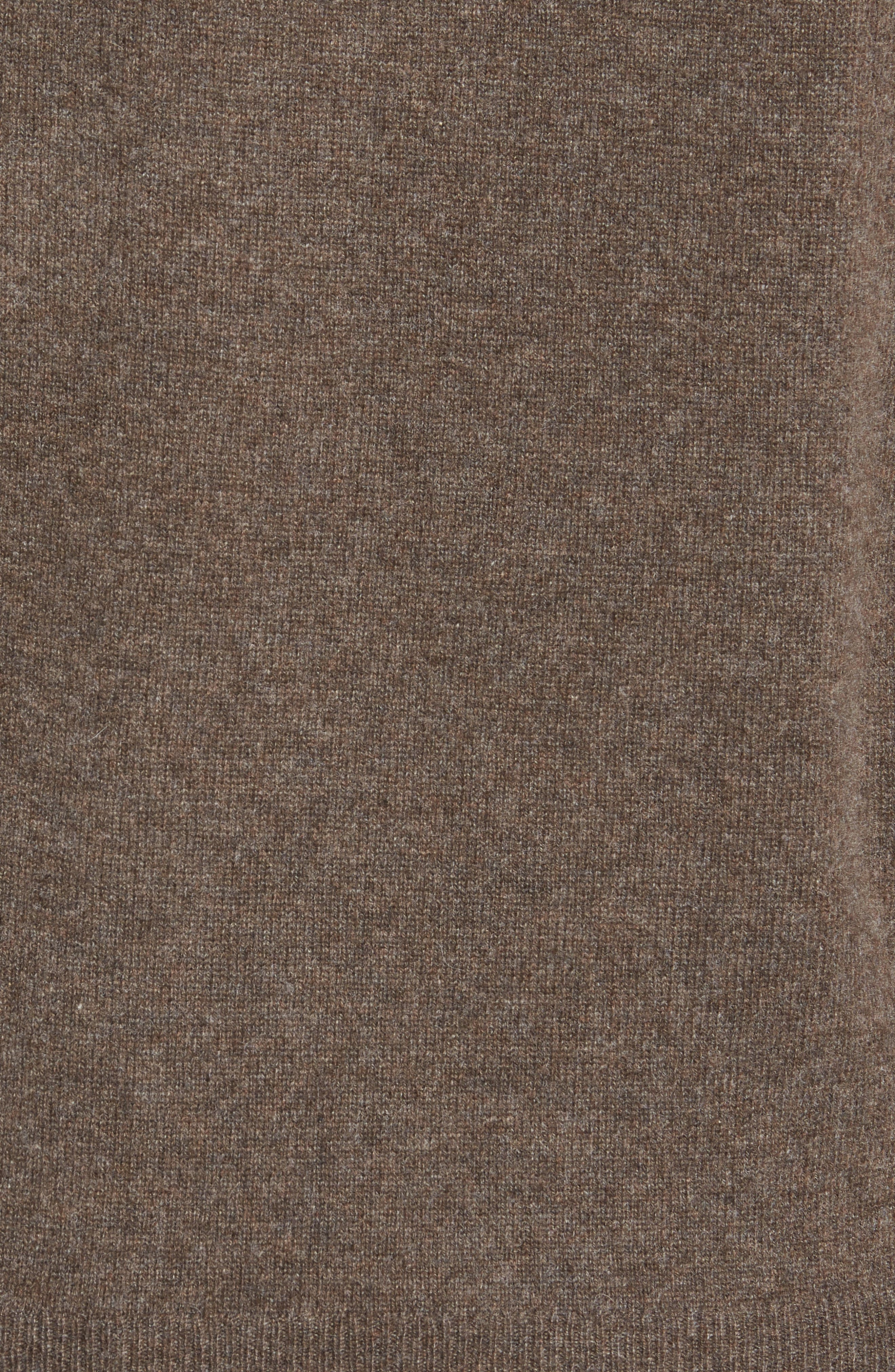 Cashmere V-Neck Sweater,                             Alternate thumbnail 5, color,                             BROWN FAWN