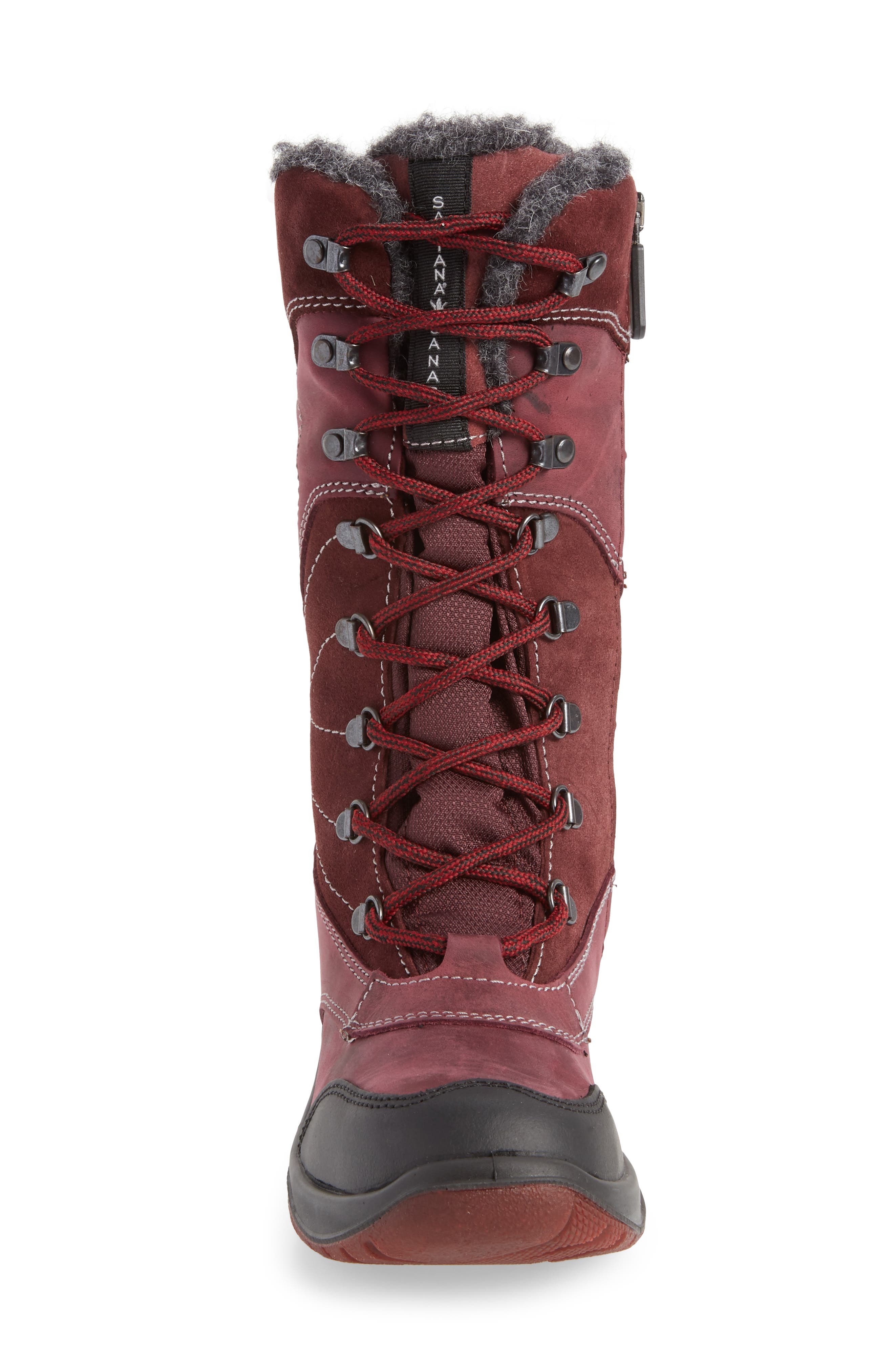 Topspeed Faux Fur Lined Waterproof Boot,                             Alternate thumbnail 4, color,                             BORDEAUX SUEDE
