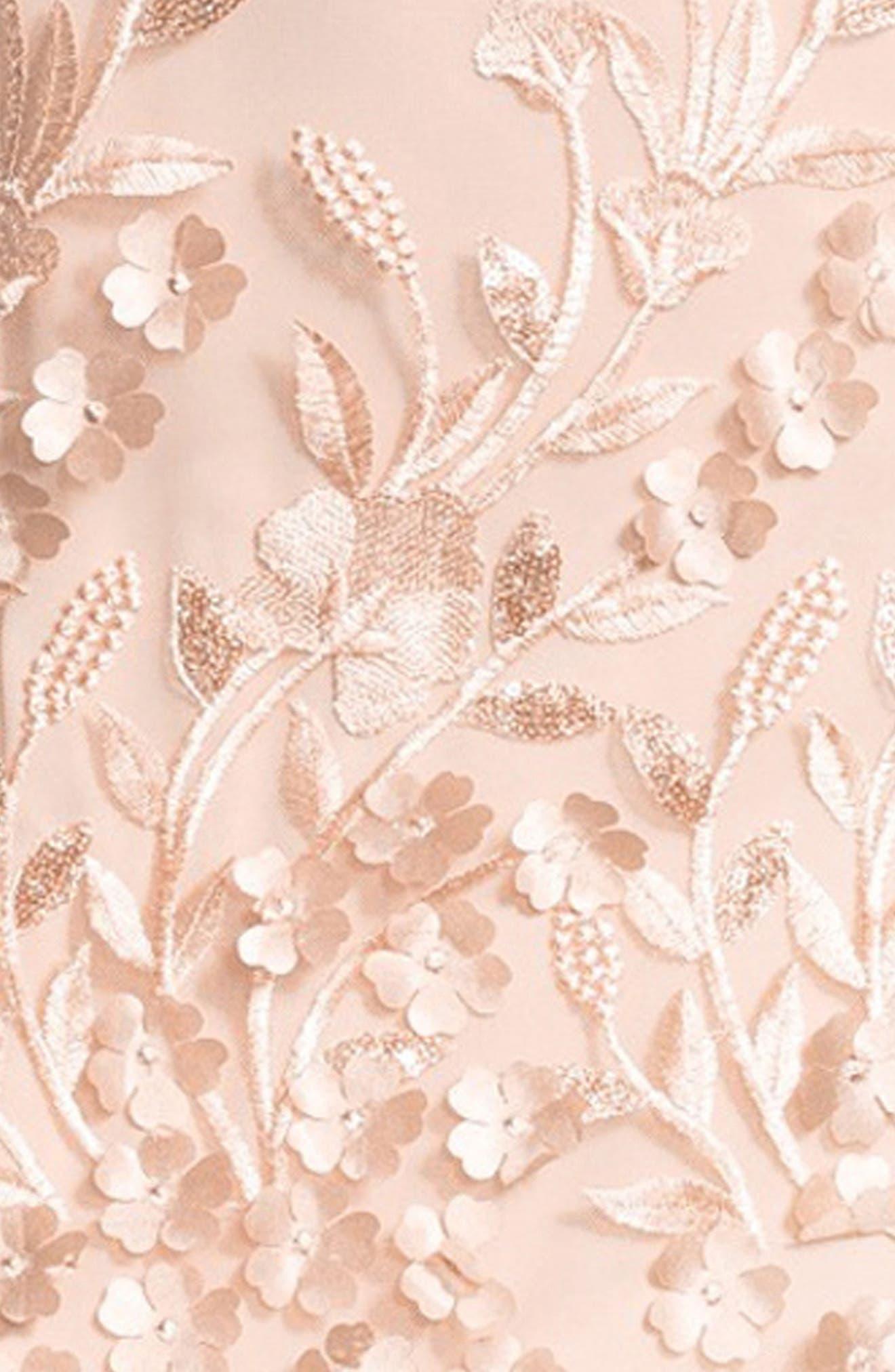 Petal Tulle Halter Gown,                             Alternate thumbnail 4, color,                             684