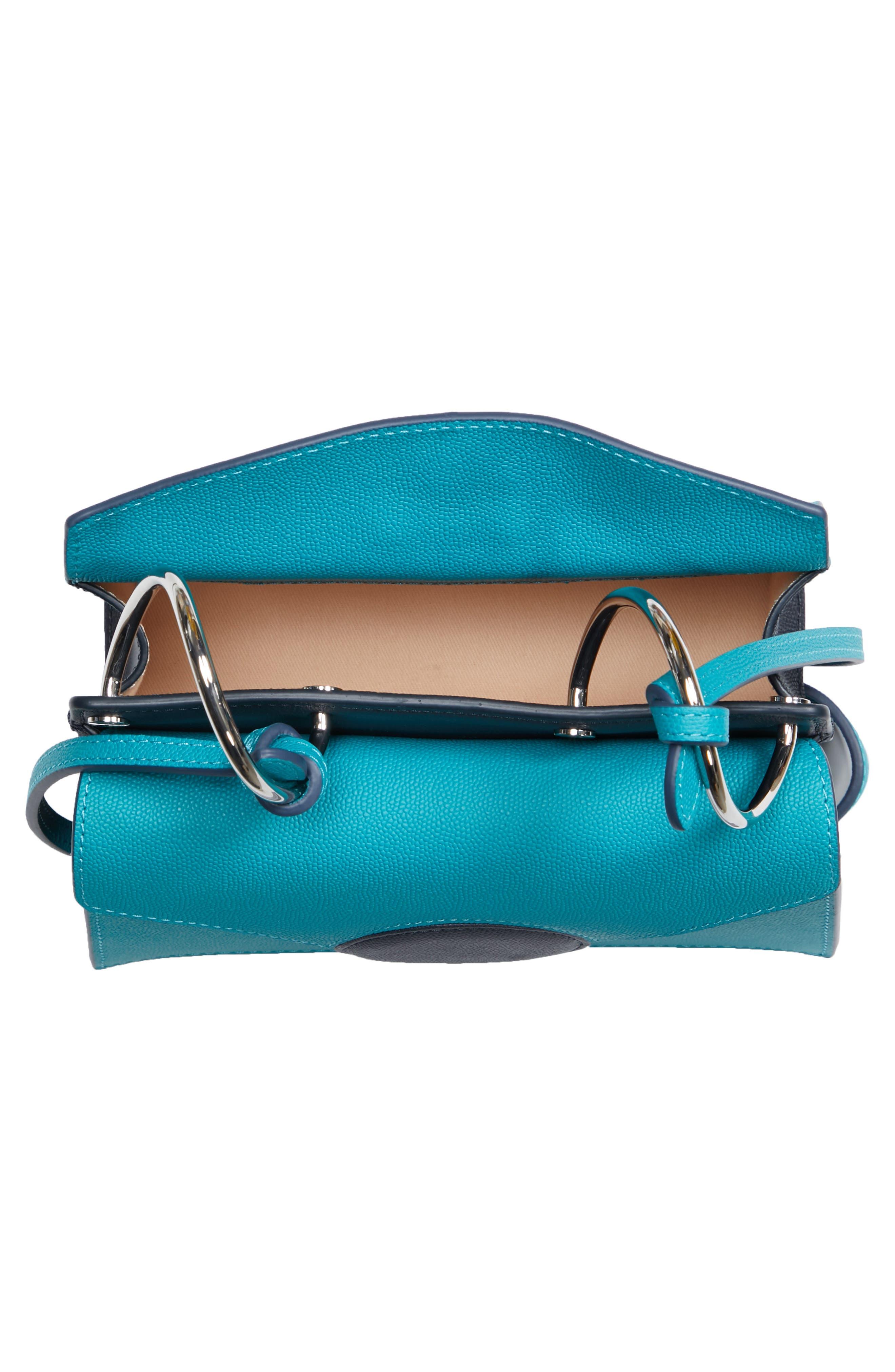 Mini Phoebe Leather Bag,                             Alternate thumbnail 4, color,                             TURQUOISE