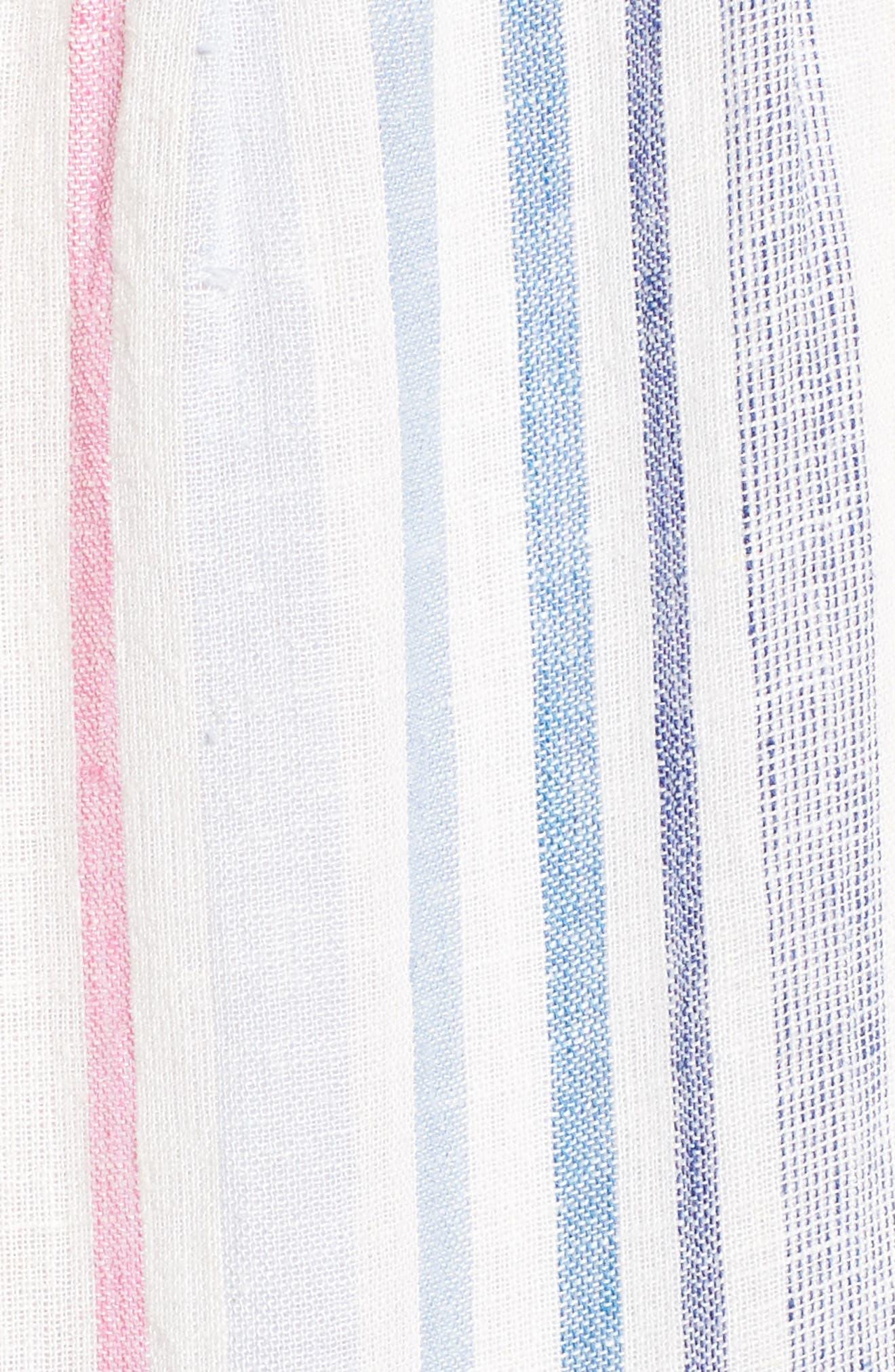 Multistripe Linen Maxi Dress,                             Alternate thumbnail 5, color,                             400