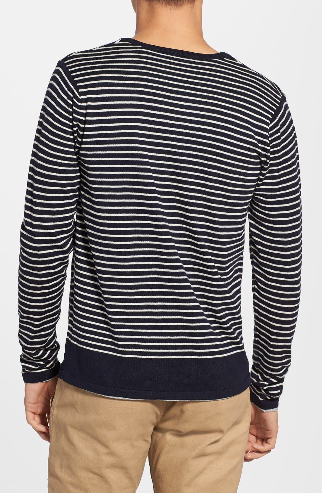 SCOTCH & SODA,                             'Granded' Stripe Henley Sweater with T-Shirt,                             Alternate thumbnail 2, color,                             400