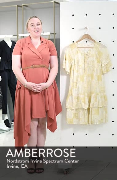 Lace-Up Neck Tiered Dress, sales video thumbnail