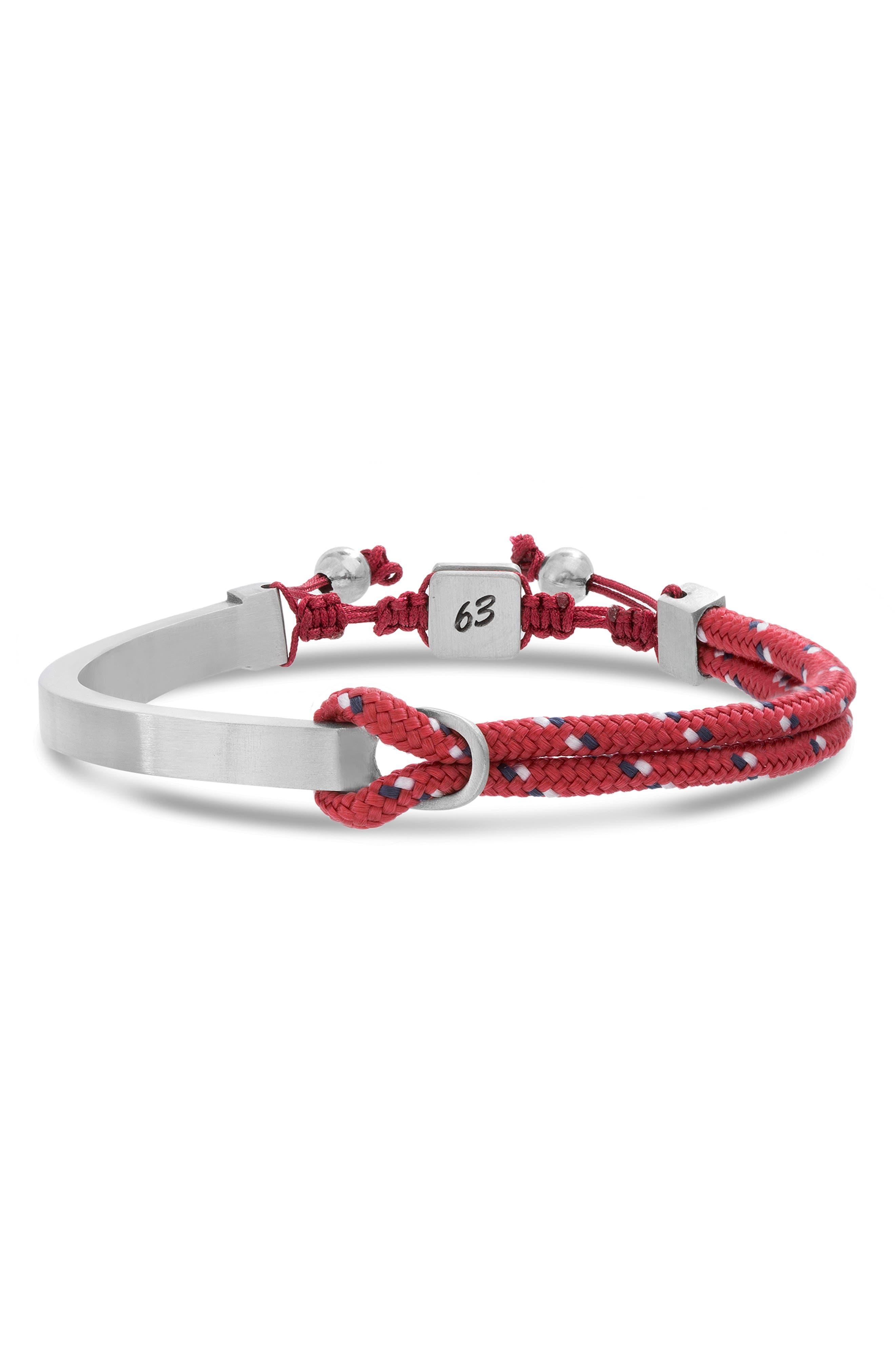 BEN SHERMAN Adjustable Id Bracelet in Blue