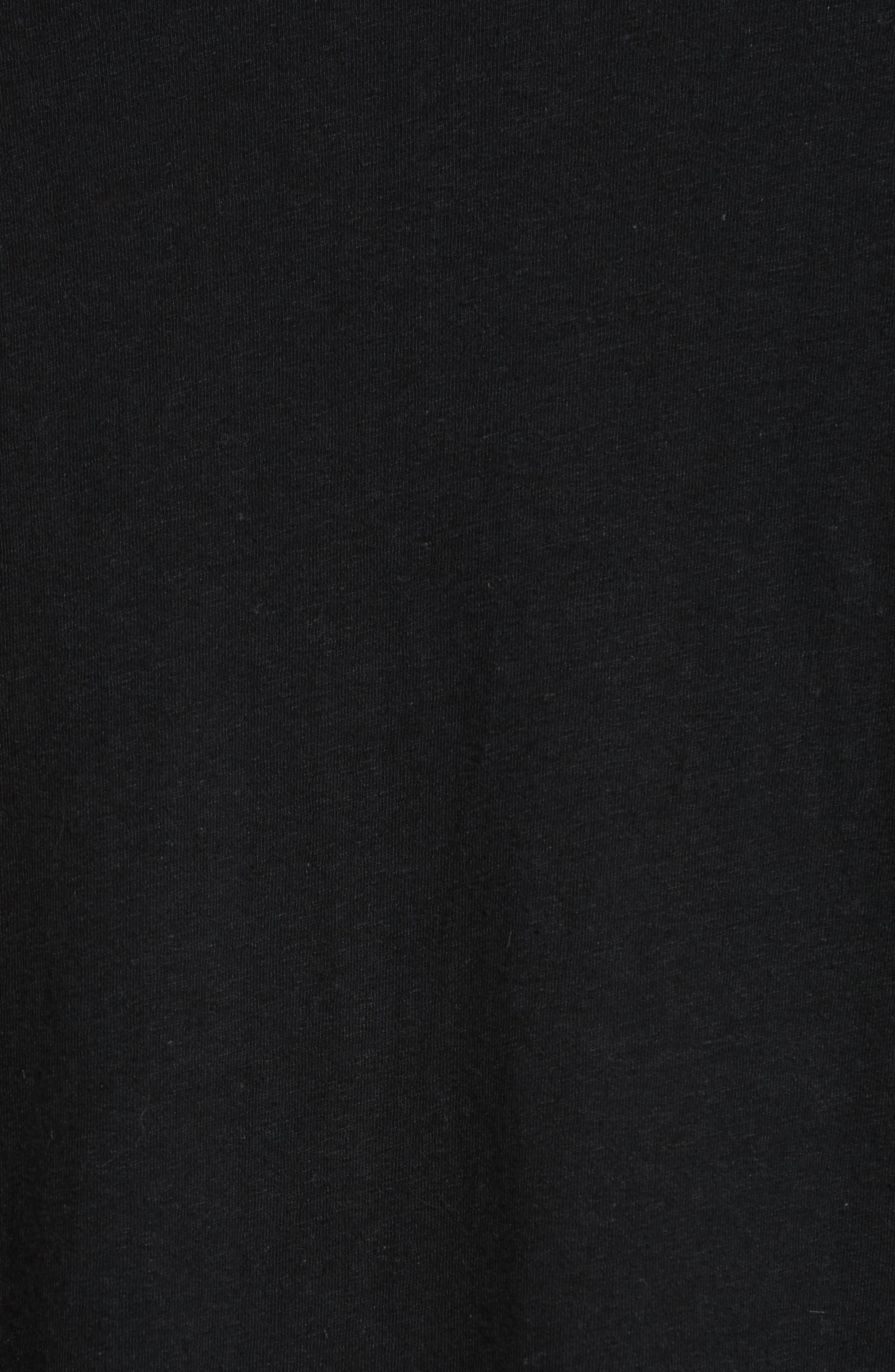 Linen Blend Jersey Long Sleeve T-Shirt,                             Alternate thumbnail 5, color,                             001