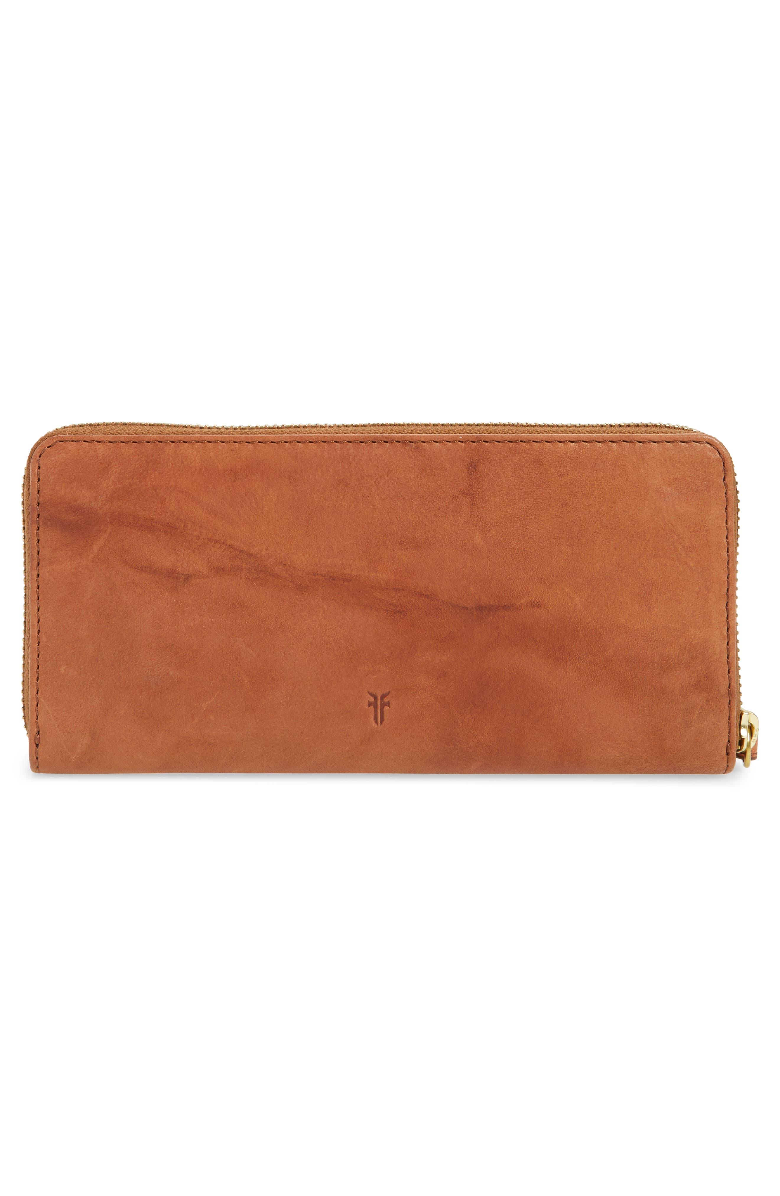 Campus Rivet Leather Continental Zip Wallet,                             Alternate thumbnail 8, color,