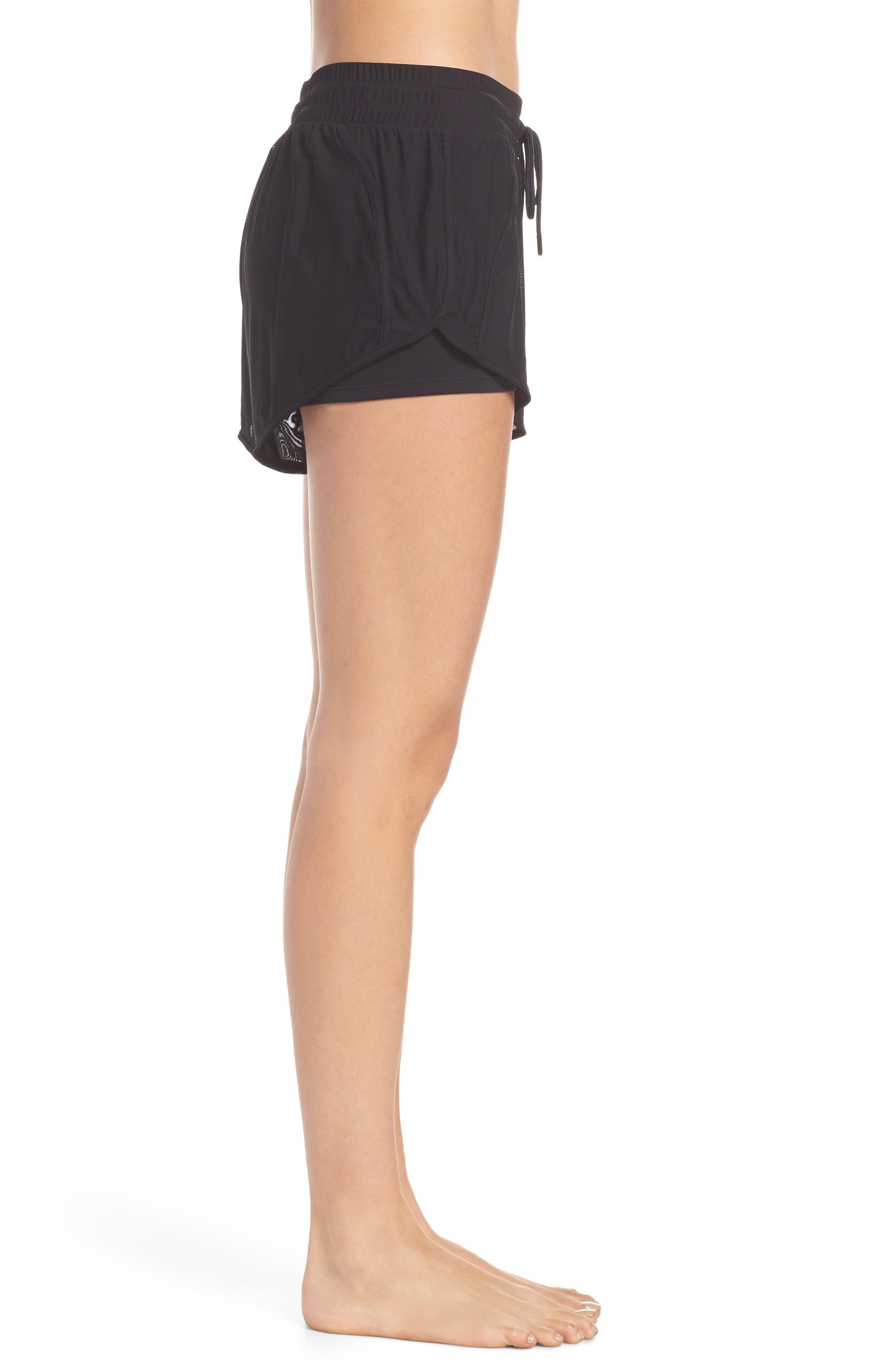 Ambience Shorts,                             Alternate thumbnail 3, color,                             BLACK/ BLACK/ ALO/ WHITE