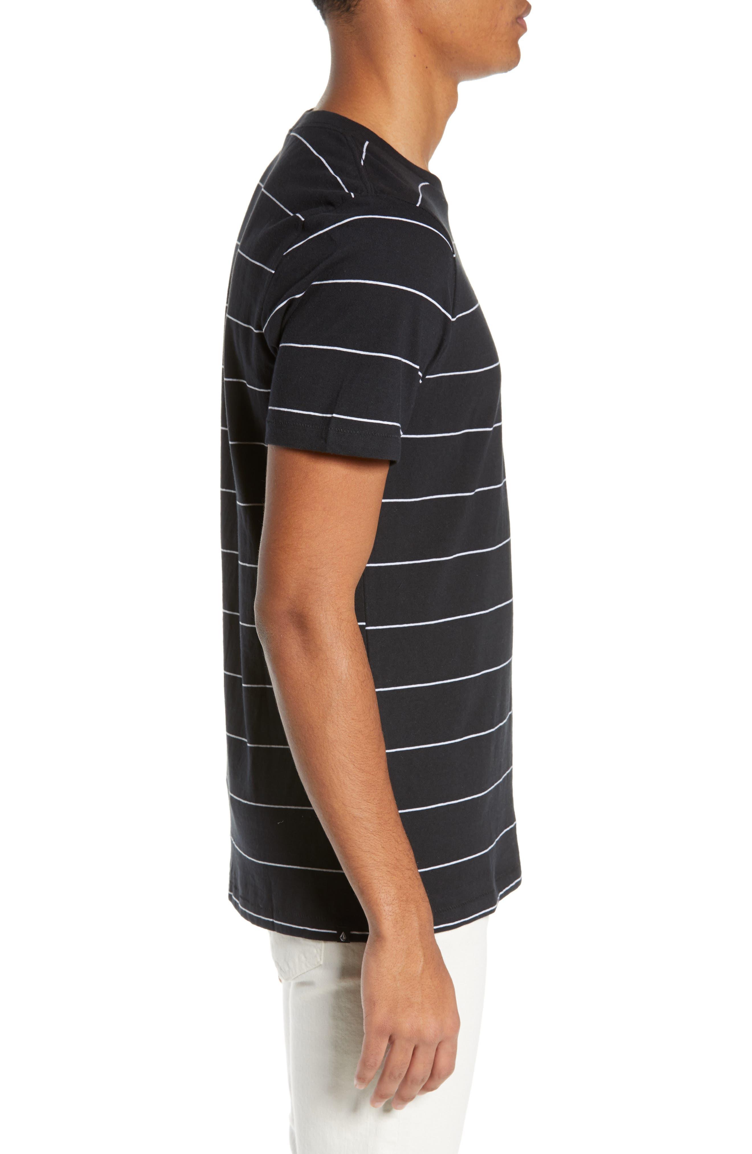 Joben Striped T-Shirt,                             Alternate thumbnail 3, color,                             BLACK