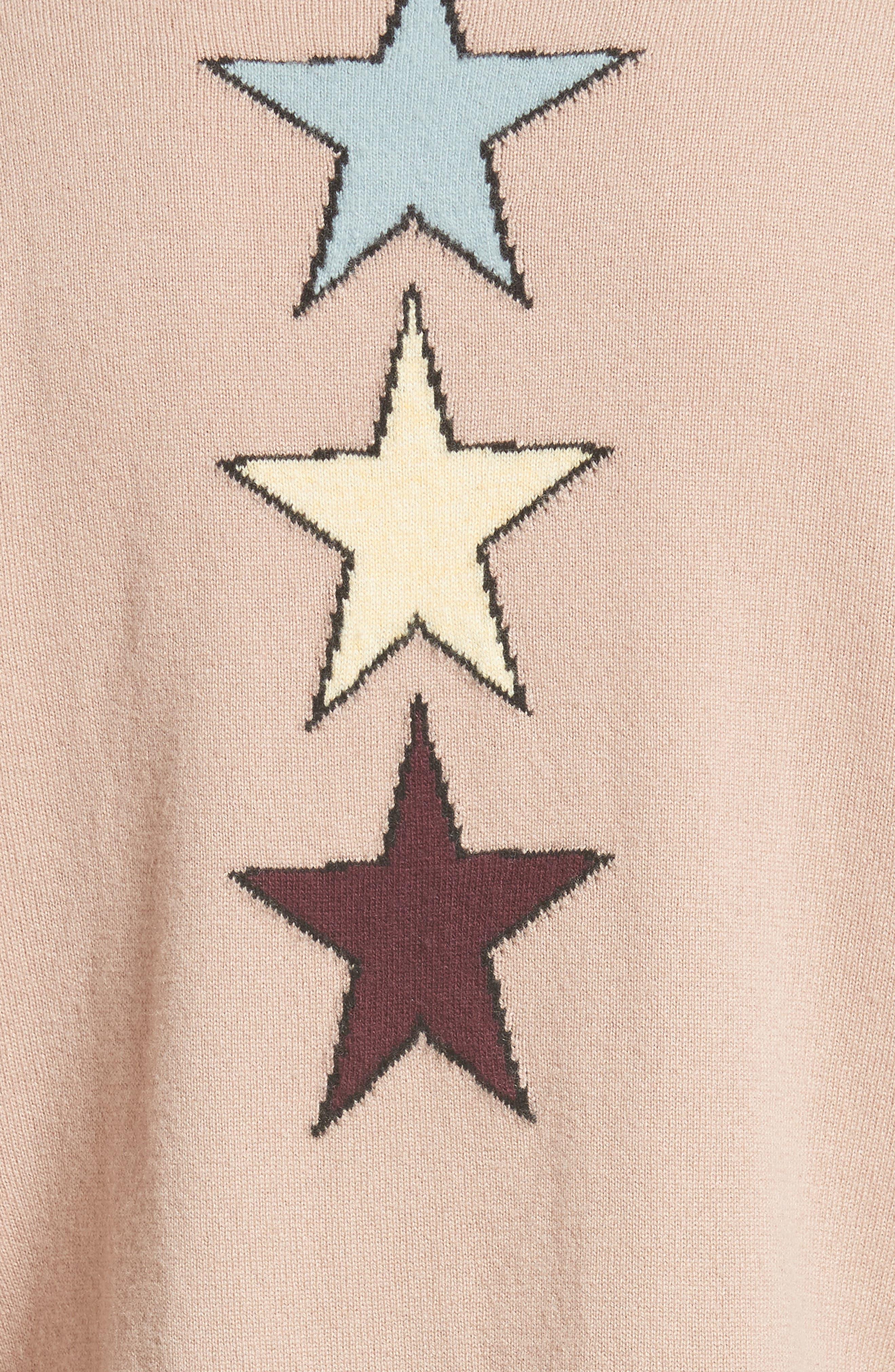 Tattoo Intarsia Wool & Cashmere Sweater,                             Alternate thumbnail 5, color,                             250