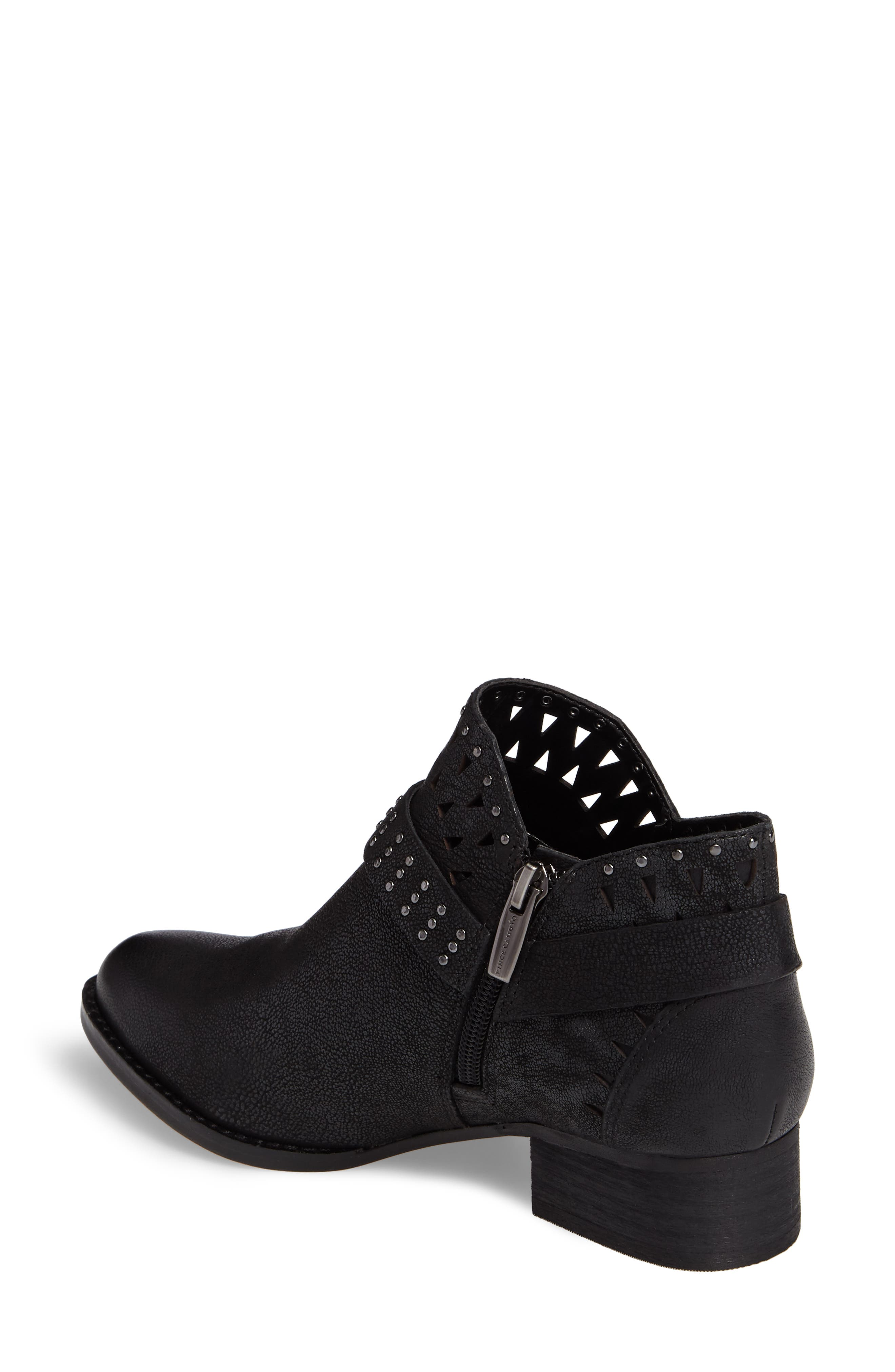 Calley Strappy Studded Bootie,                             Alternate thumbnail 2, color,                             001