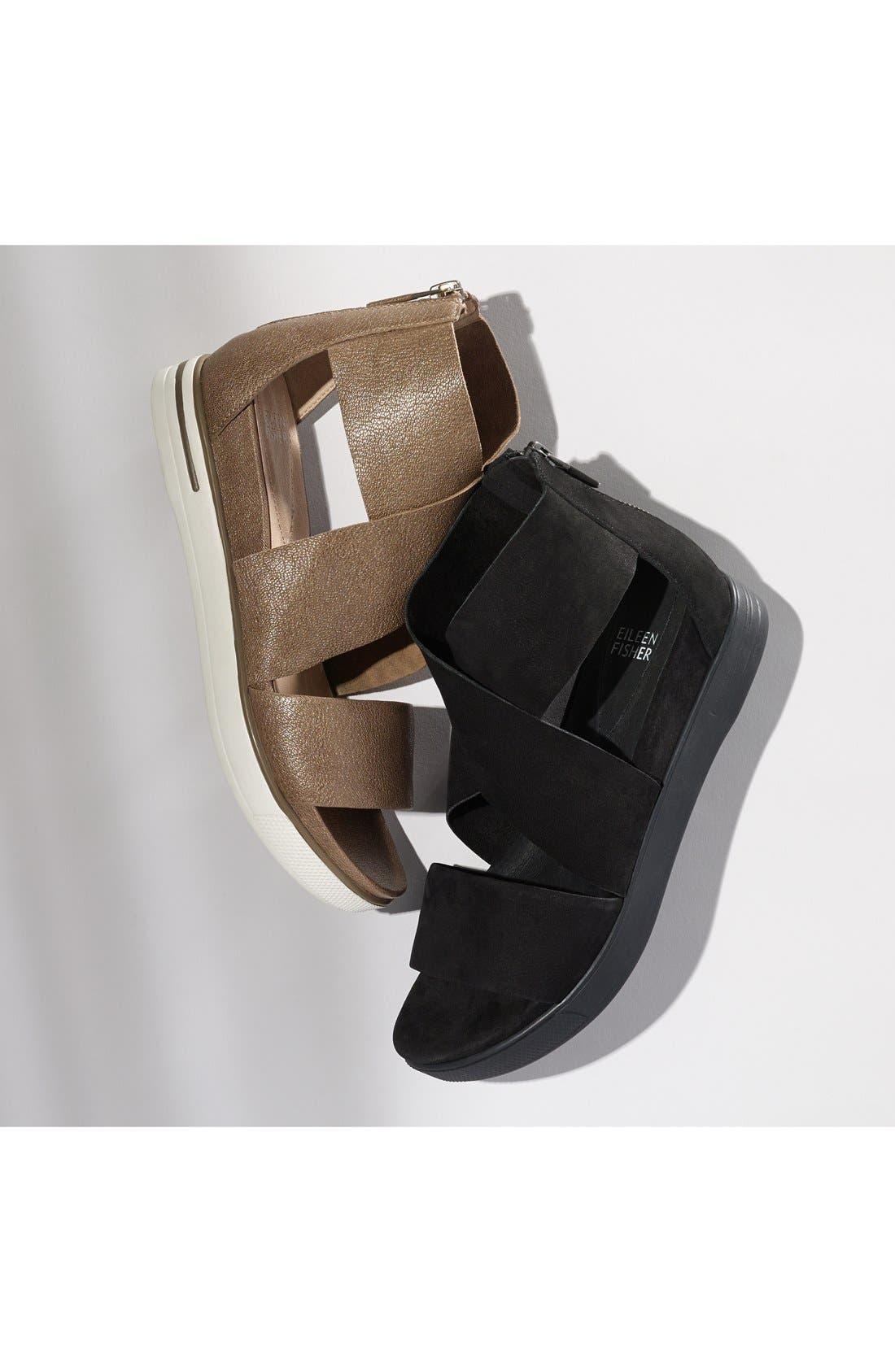Sport Platform Sandal,                             Alternate thumbnail 8, color,                             PLATINUM LEATHER