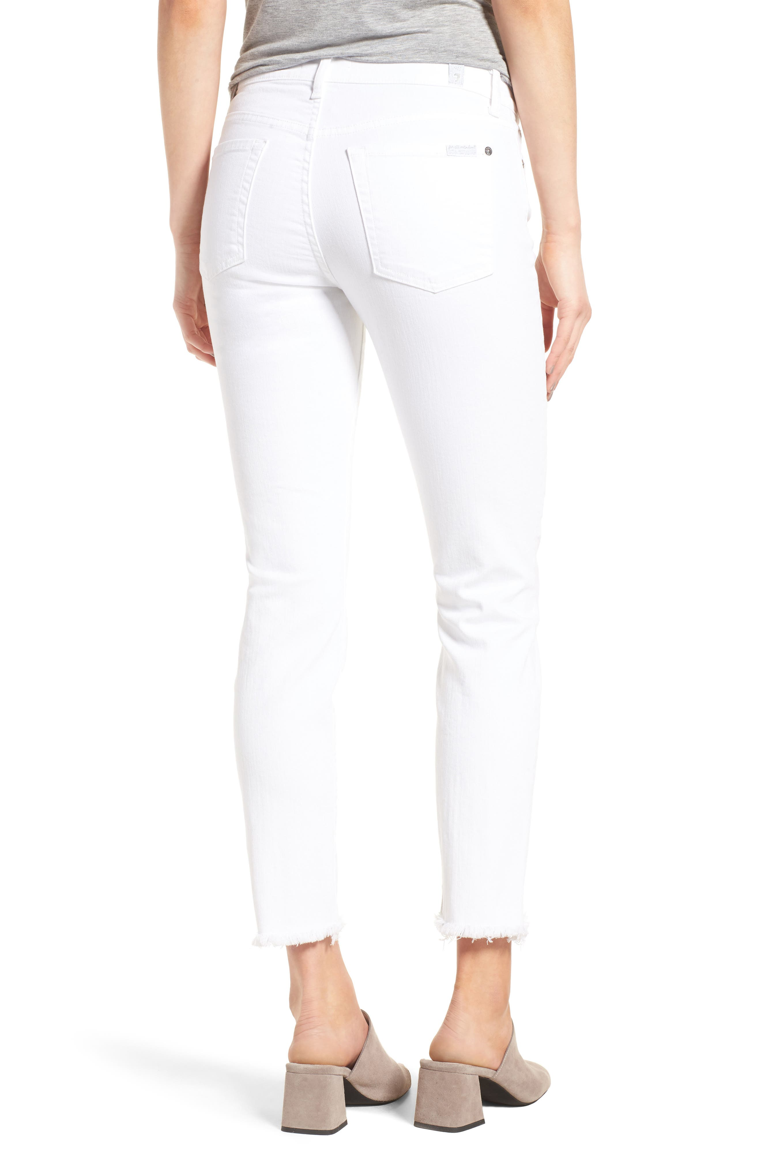 Roxanne Ankle Straight Leg Jeans,                             Alternate thumbnail 2, color,                             101
