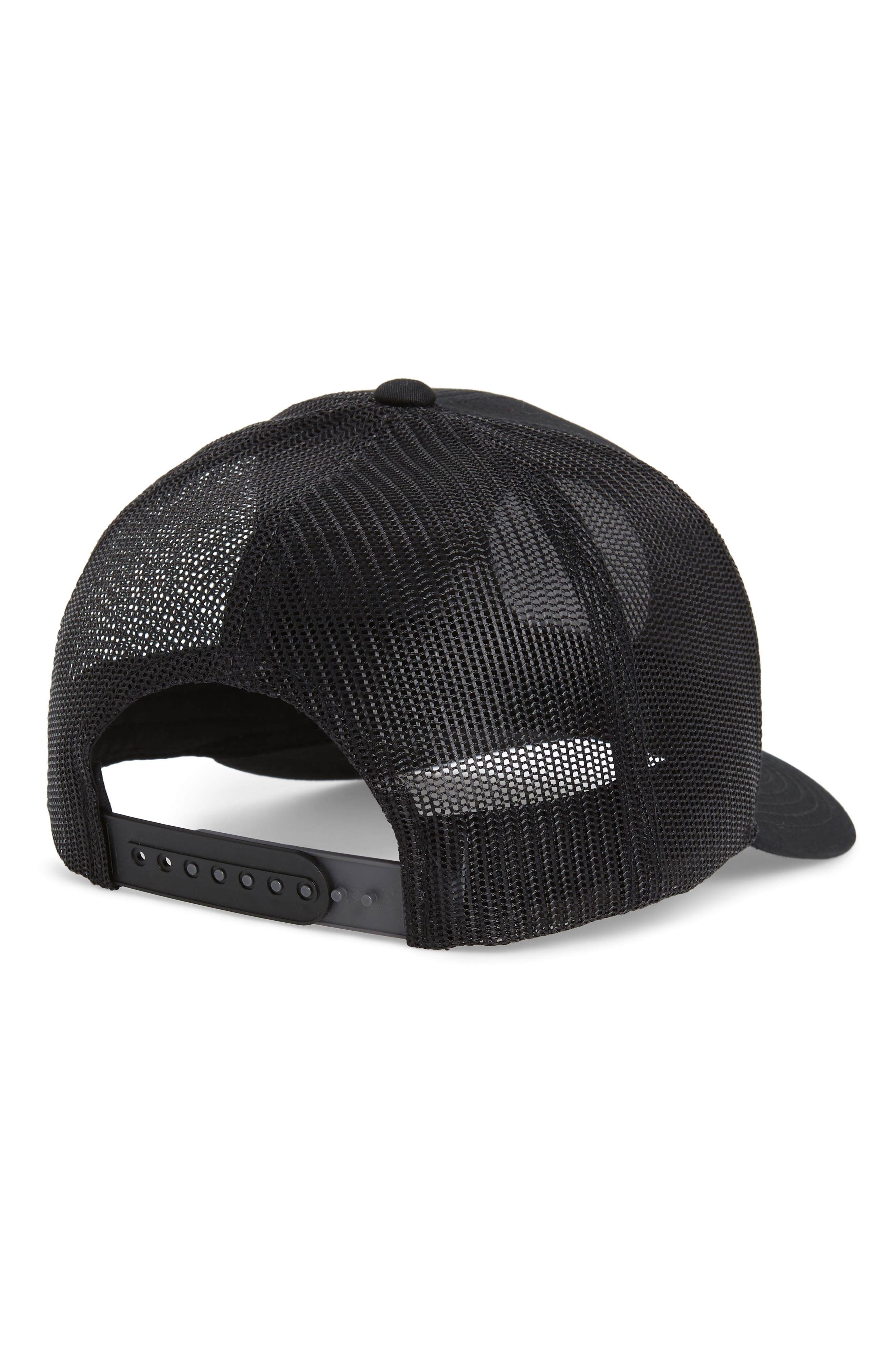 Claery Trucker Hat,                             Alternate thumbnail 2, color,                             BLACK