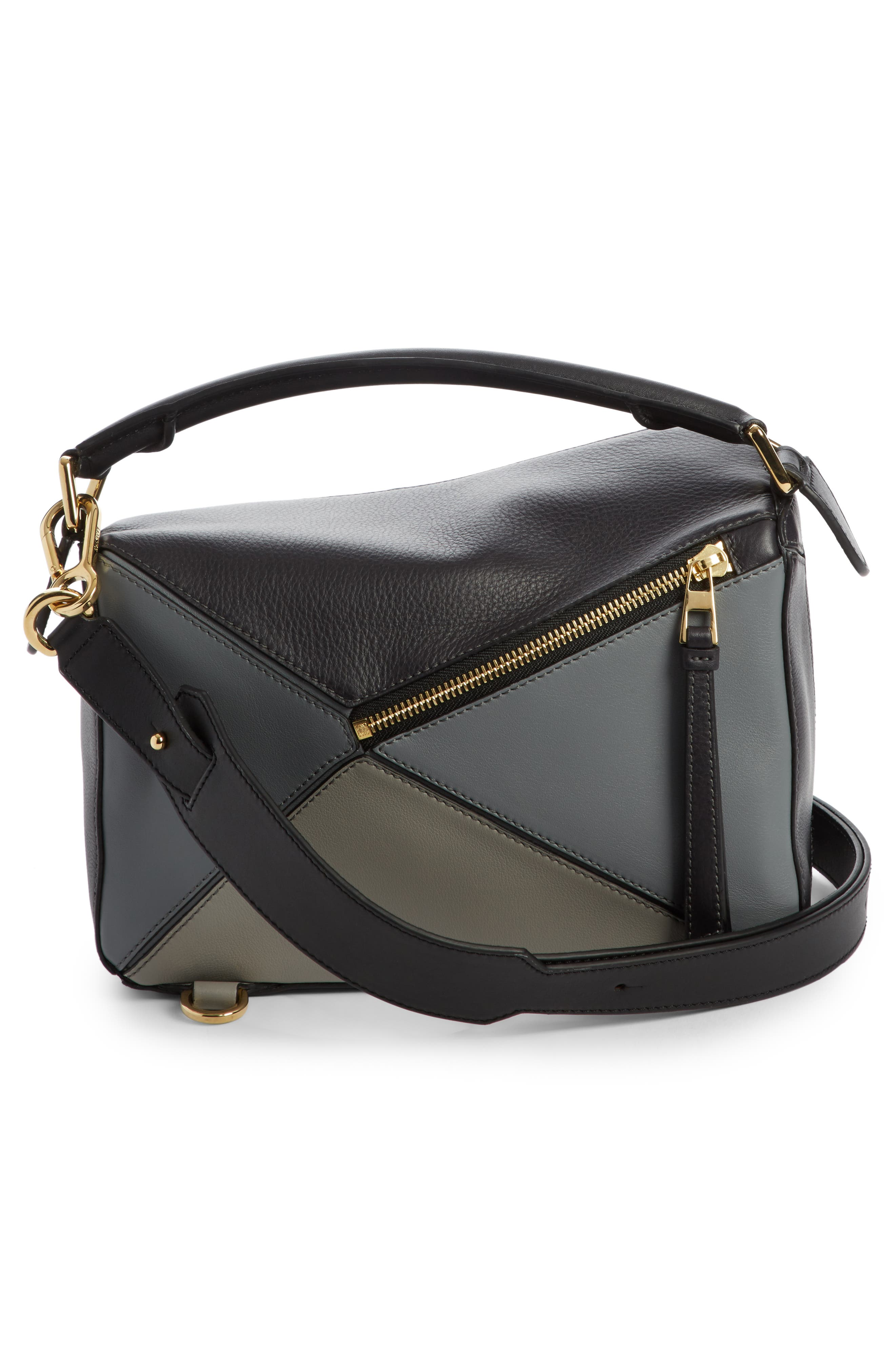 Small Puzzle Colorblock Calfskin Leather Bag,                             Alternate thumbnail 2, color,                             070