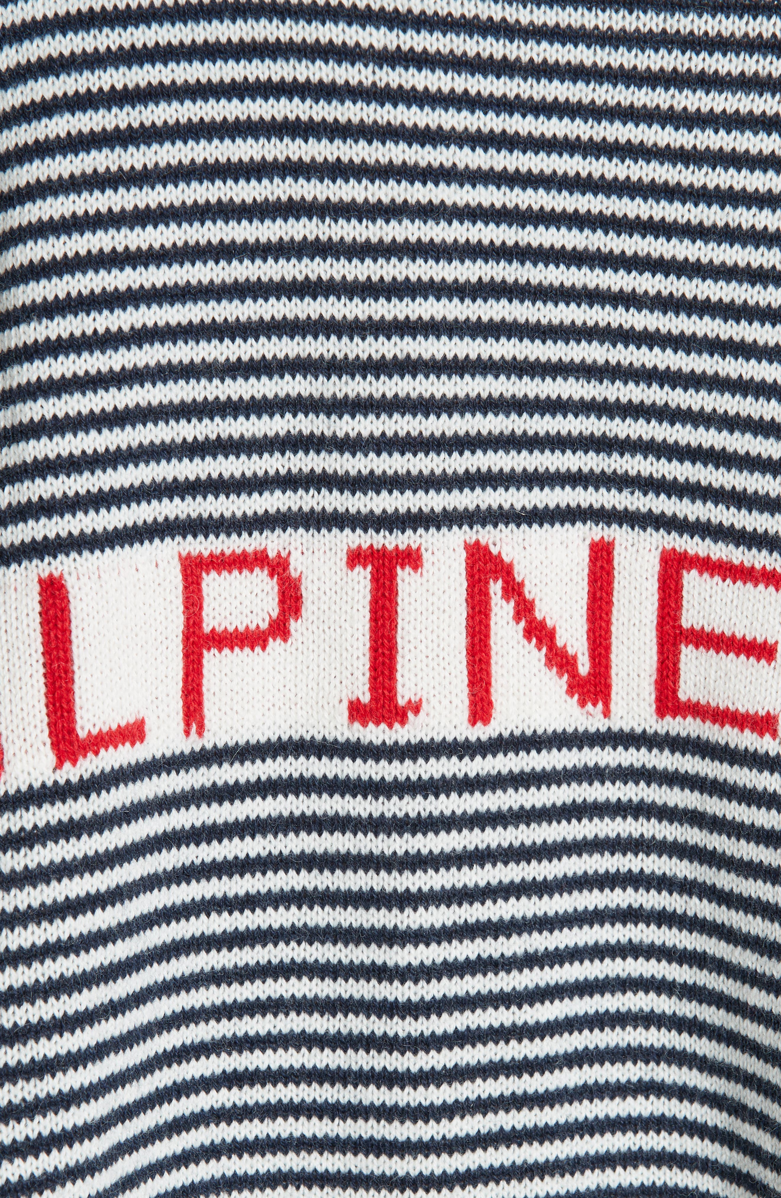 Alpine Ski Sweater,                             Alternate thumbnail 5, color,                             MULTI STRIPE