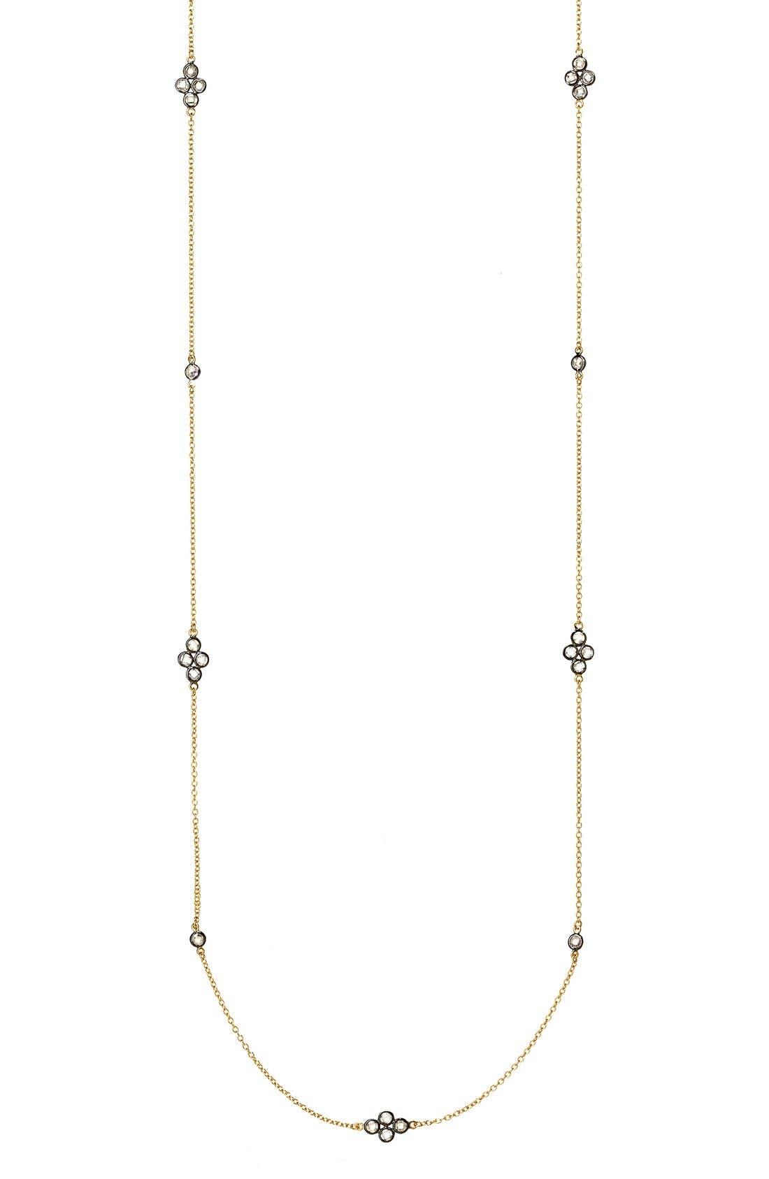 'The Standards' Long Station Necklace,                             Alternate thumbnail 4, color,                             GOLD/ GUNMETAL