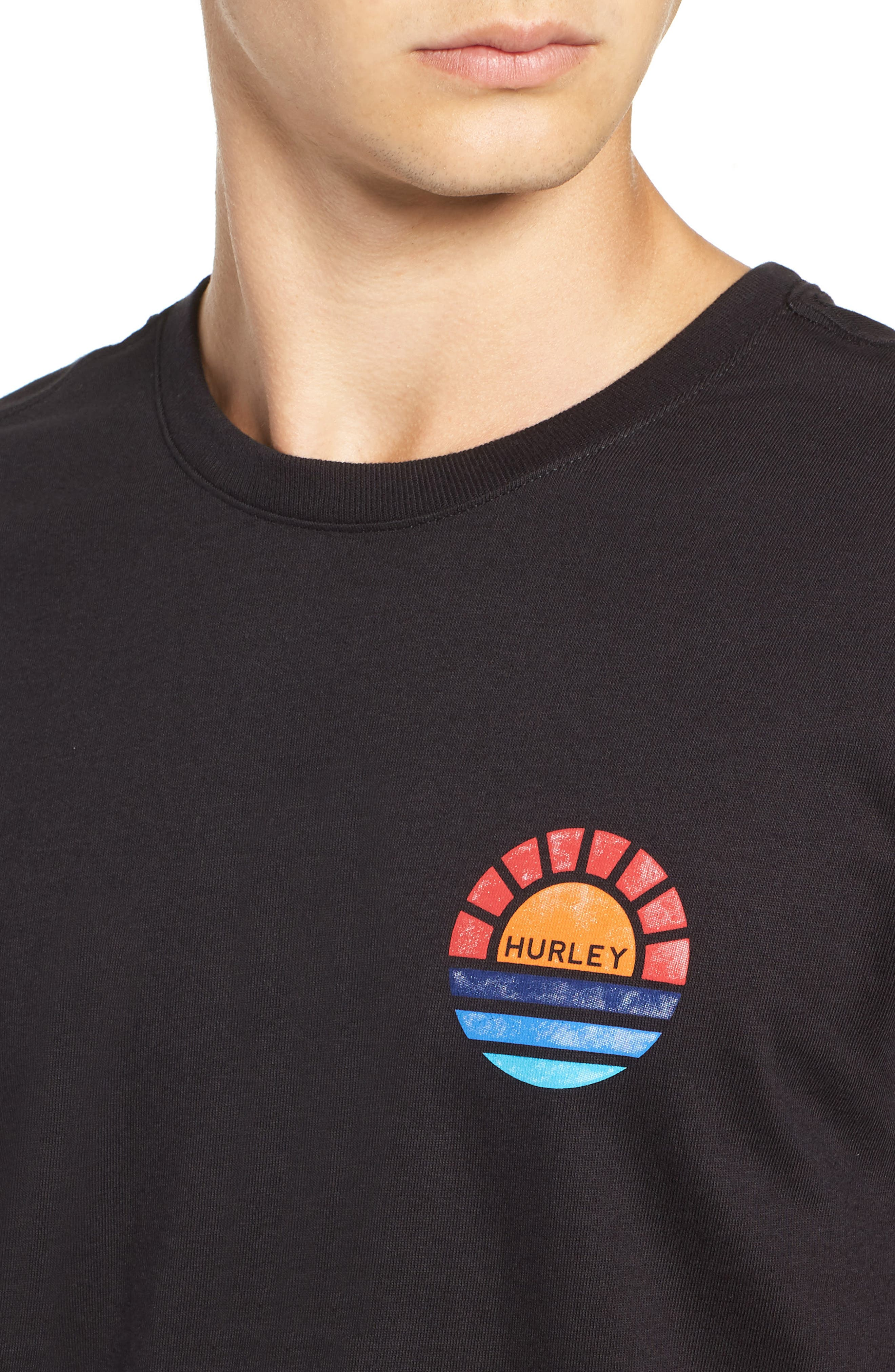 Core Sunset T-Shirt,                             Alternate thumbnail 4, color,                             BLACK