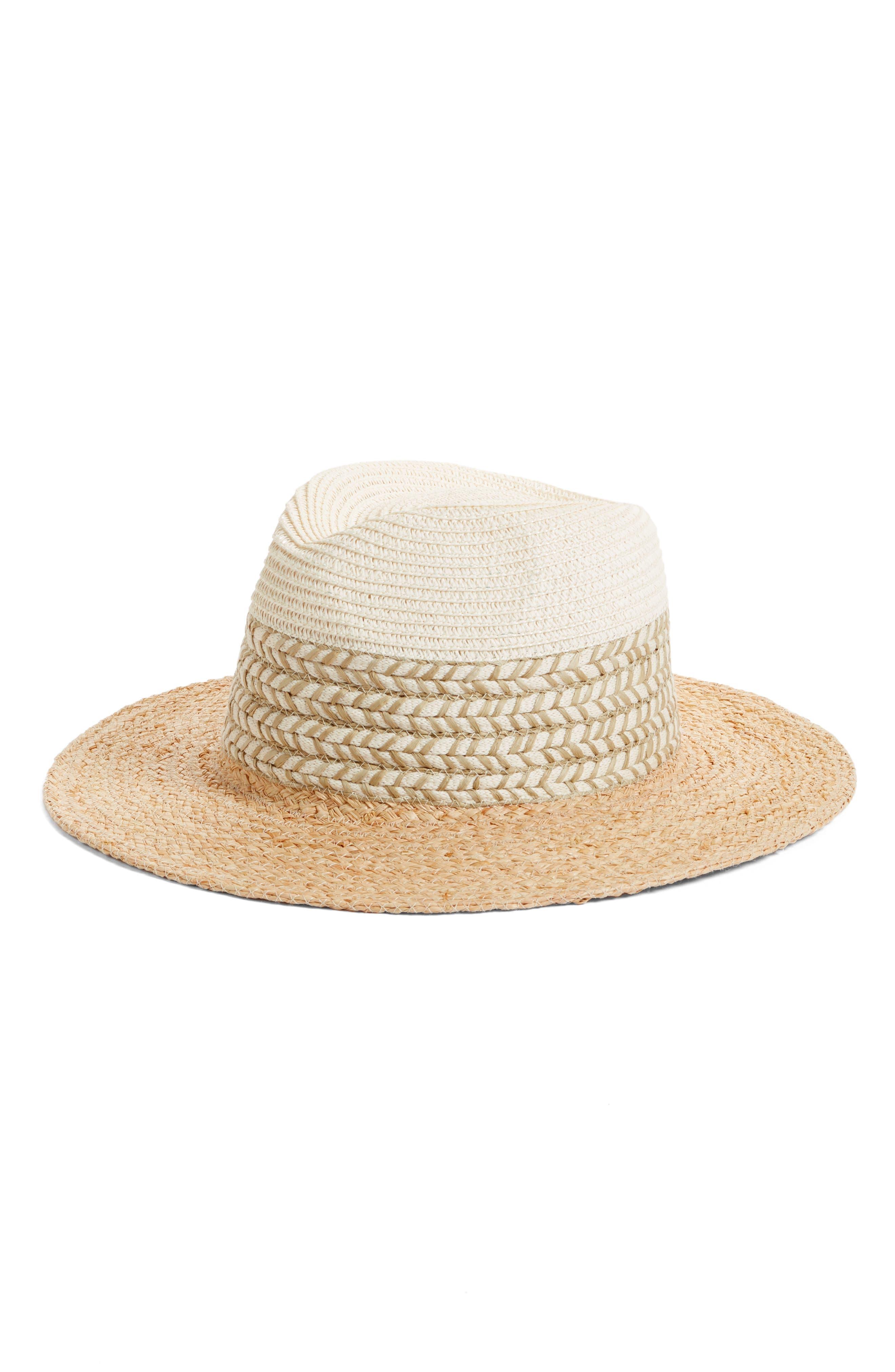 Mixed Media Panama Hat,                             Main thumbnail 1, color,                             235