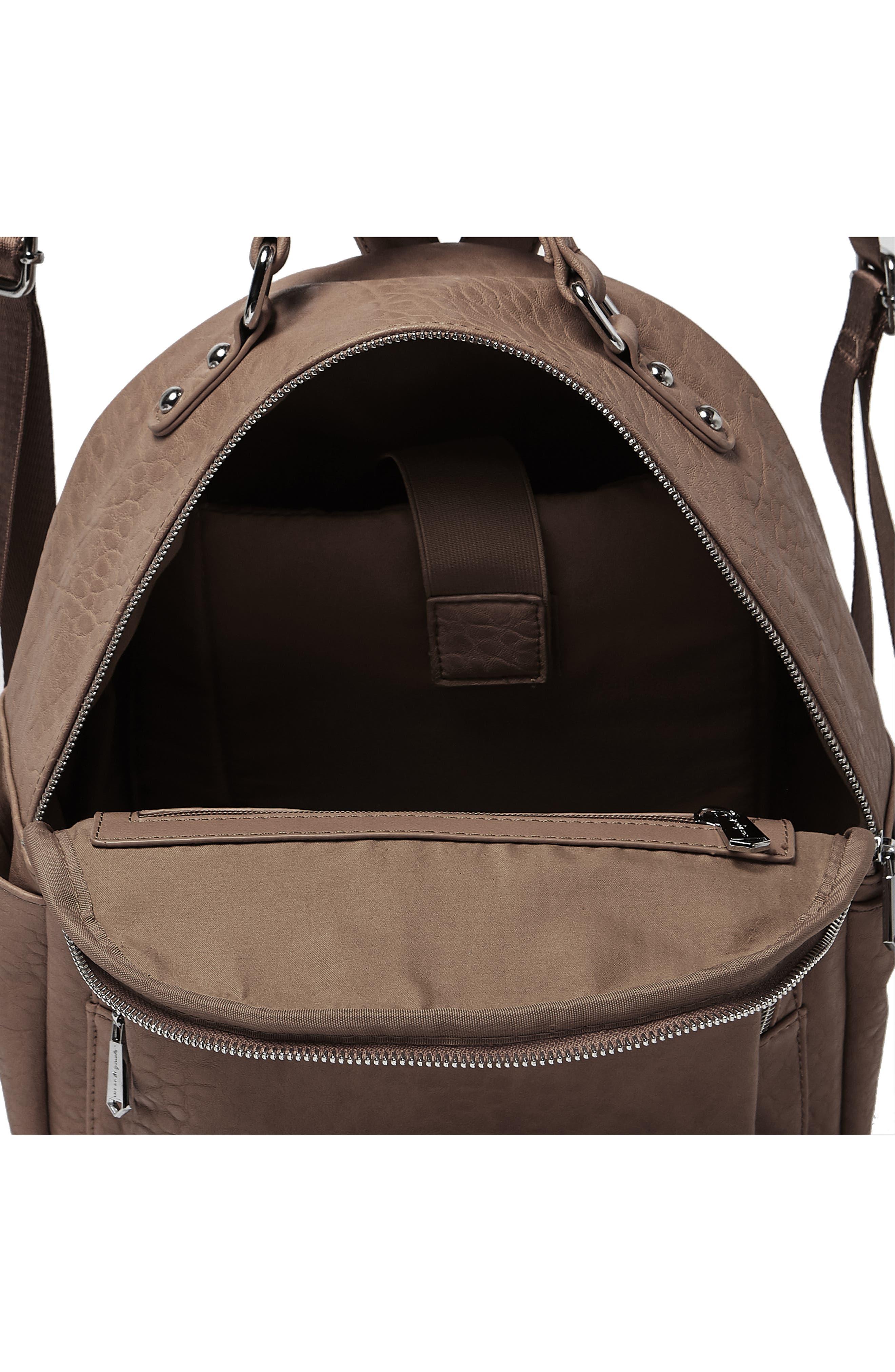 South Bag Vegan Leather Backpack,                             Alternate thumbnail 3, color,                             MOCHA