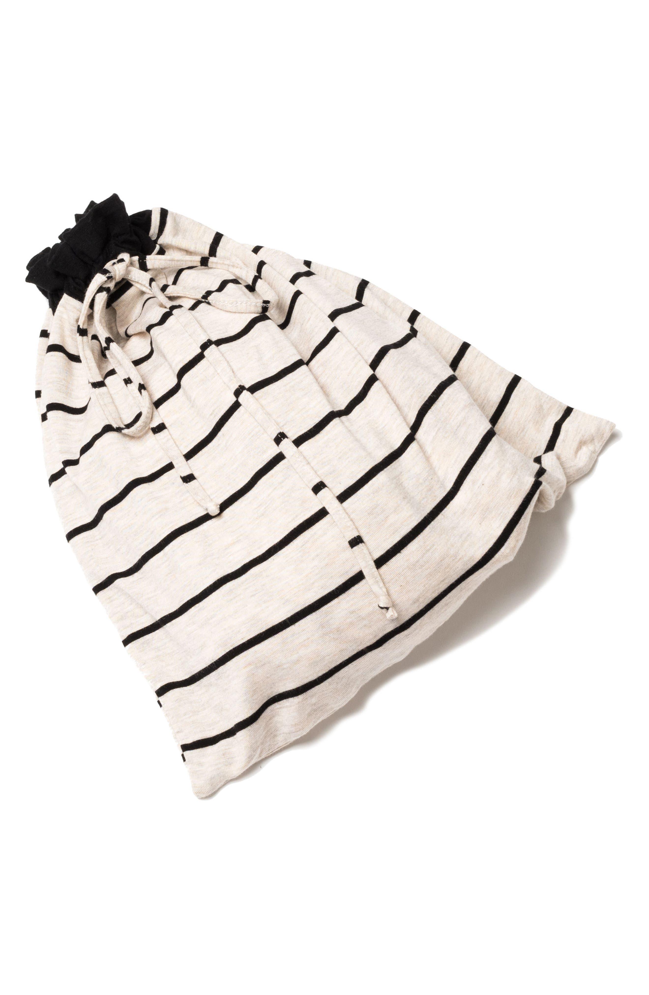 Roxanne - During & After 5-Piece Maternity Sleepwear Set,                             Alternate thumbnail 8, color,                             SAND STRIPE