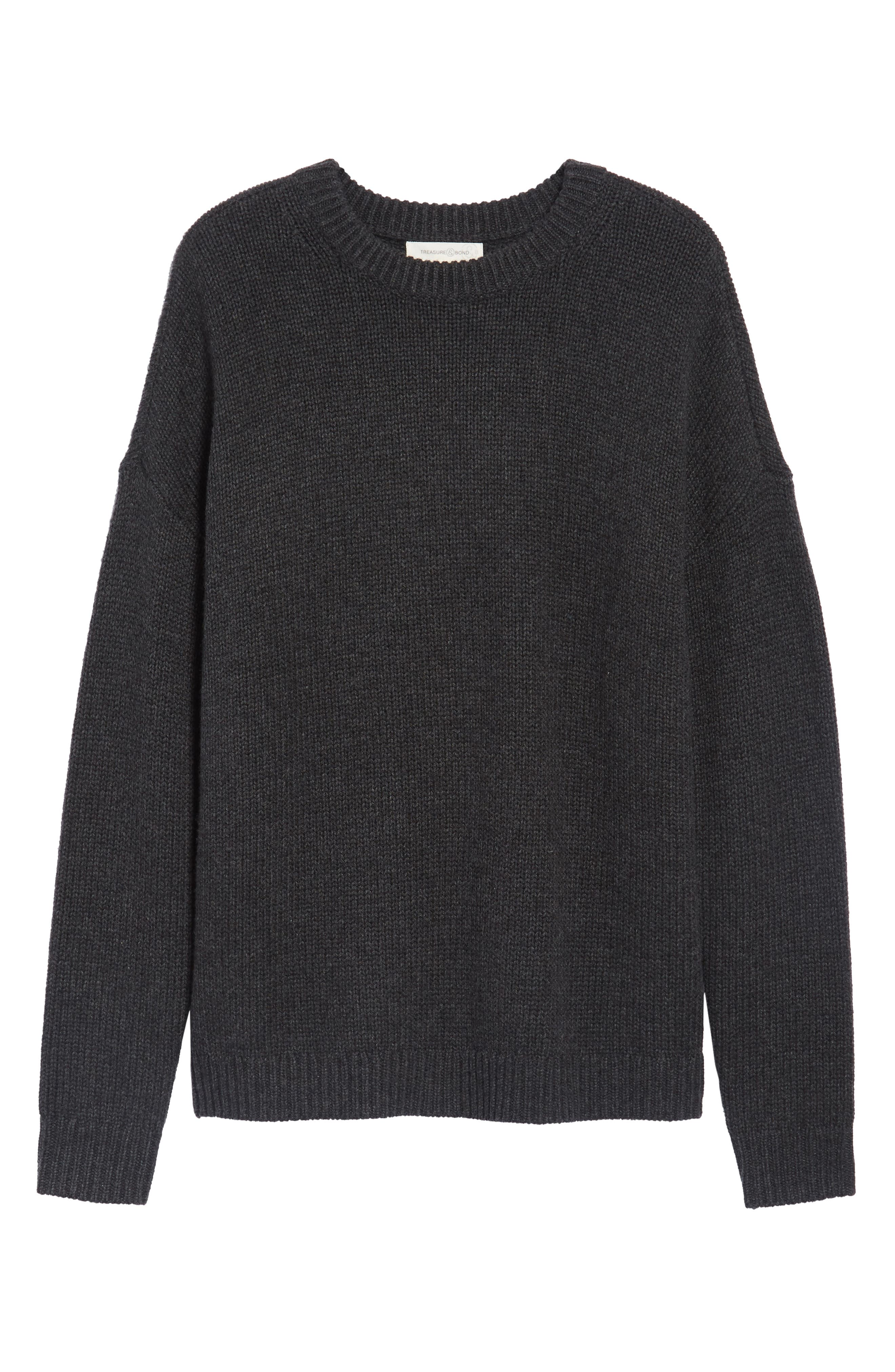 x Something Navy Crewneck Sweater,                             Alternate thumbnail 31, color,