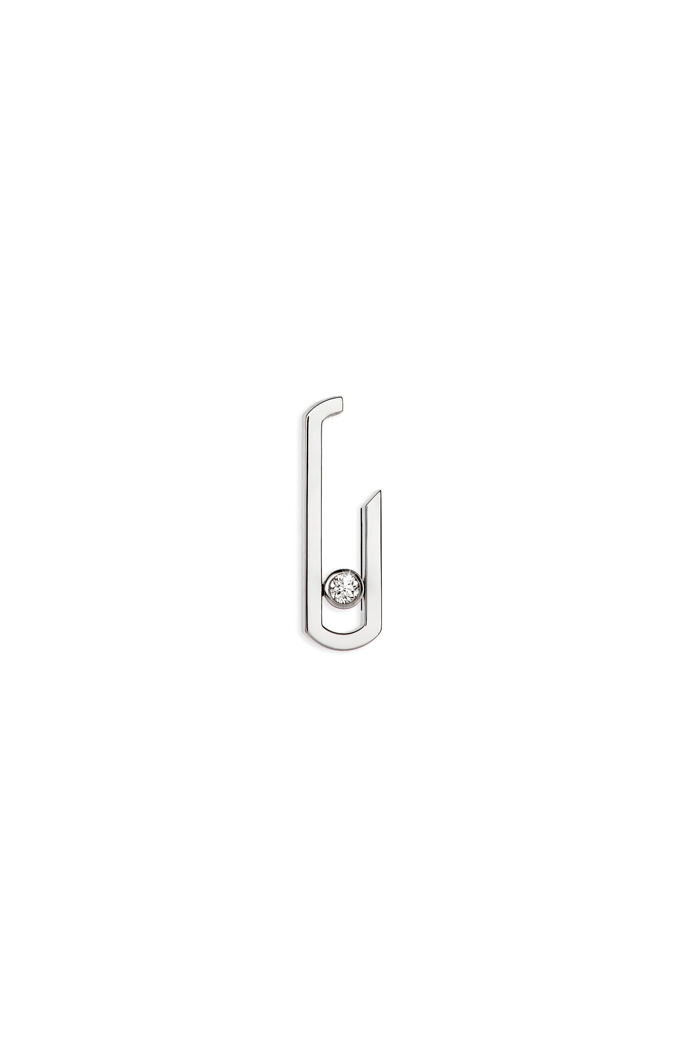 Move Addiction by Gigi Hadid Diamond Earrings,                             Main thumbnail 1, color,                             WHITE GOLD