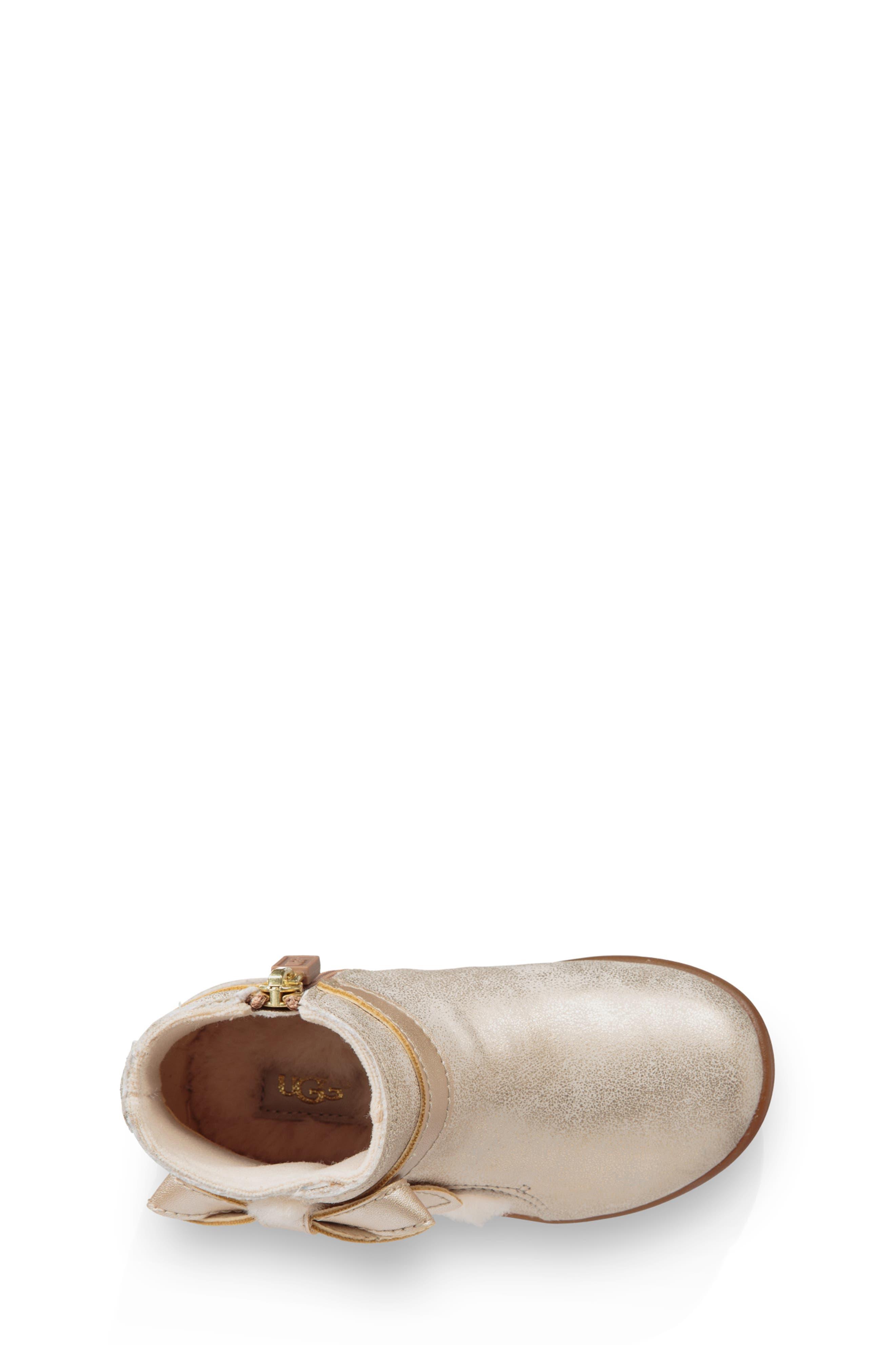 Libbie Metallic Boot,                             Alternate thumbnail 4, color,                             GOLD