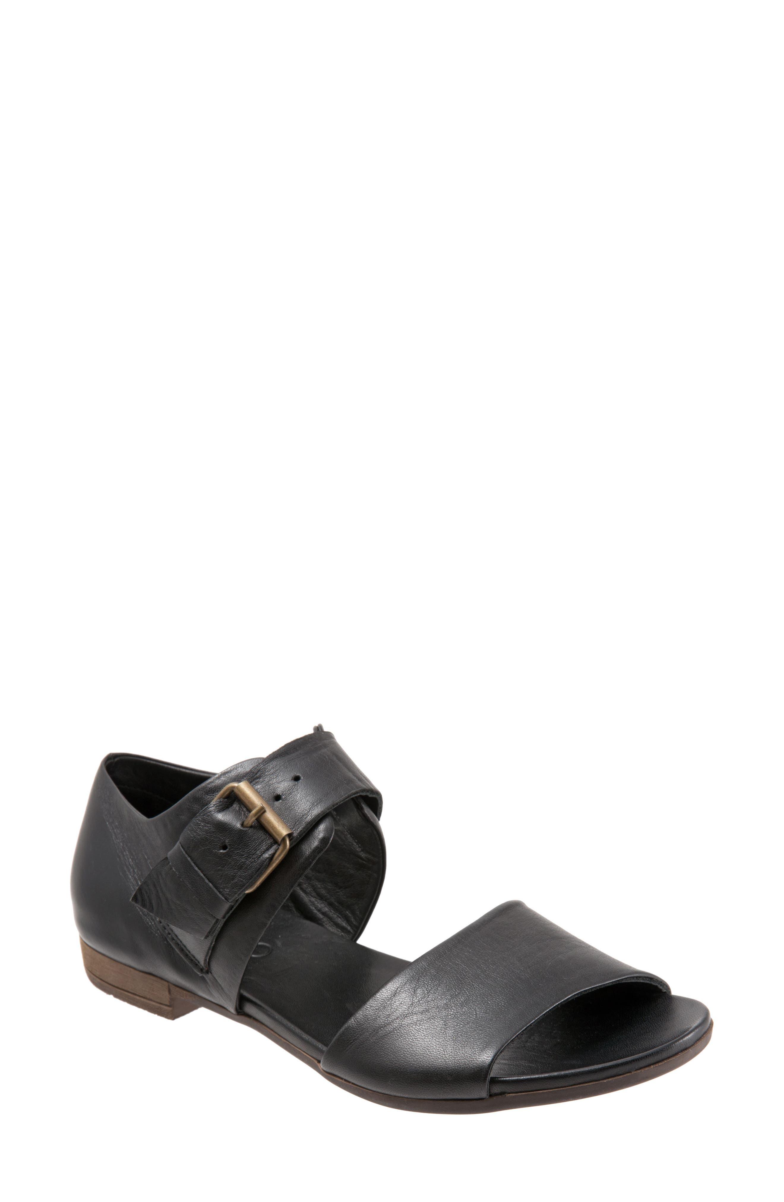 Talia Sandal,                         Main,                         color, BLACK LEATHER