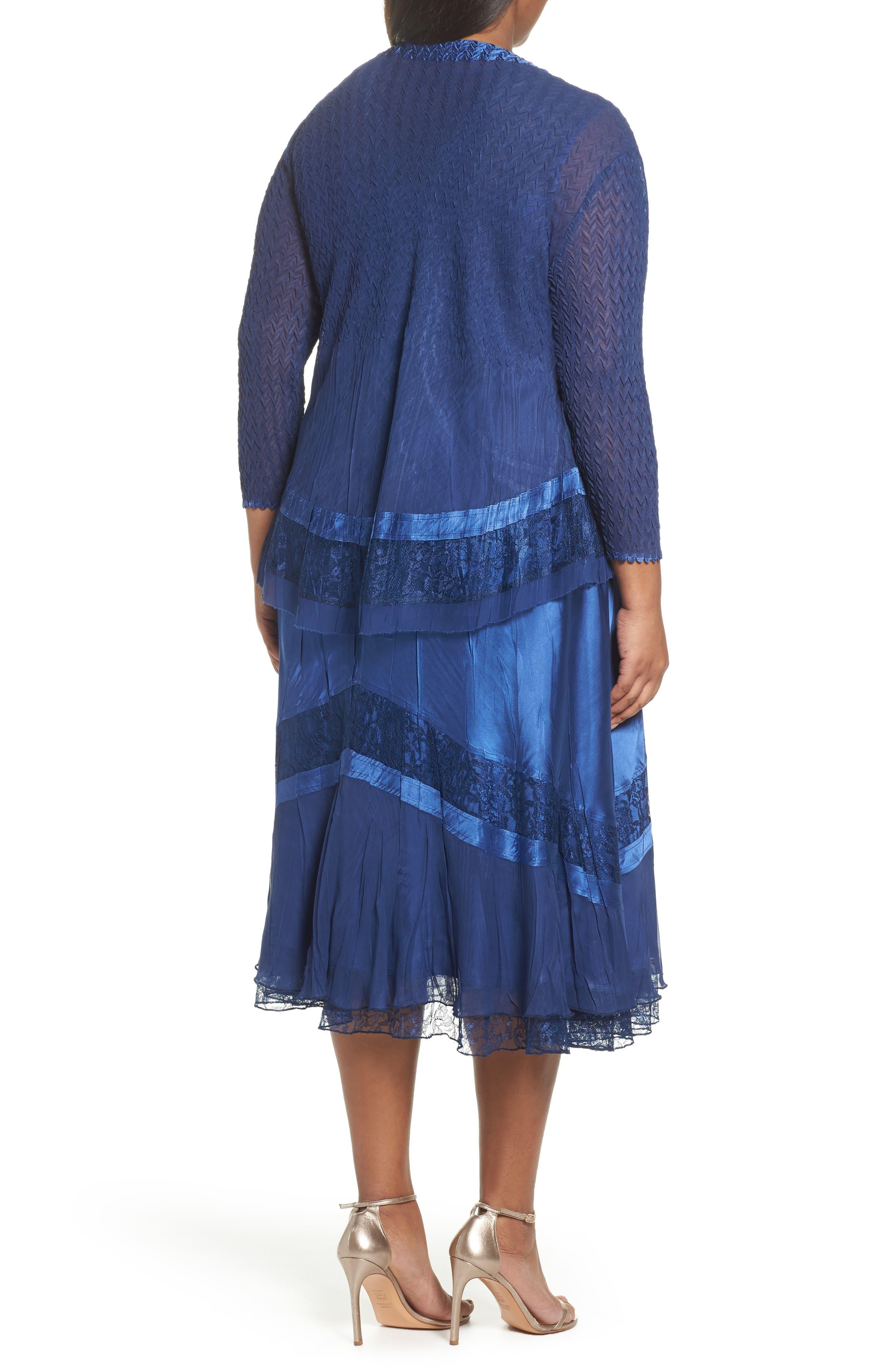 Charmeuse & Chiffon Jacket Dress,                             Alternate thumbnail 2, color,                             412