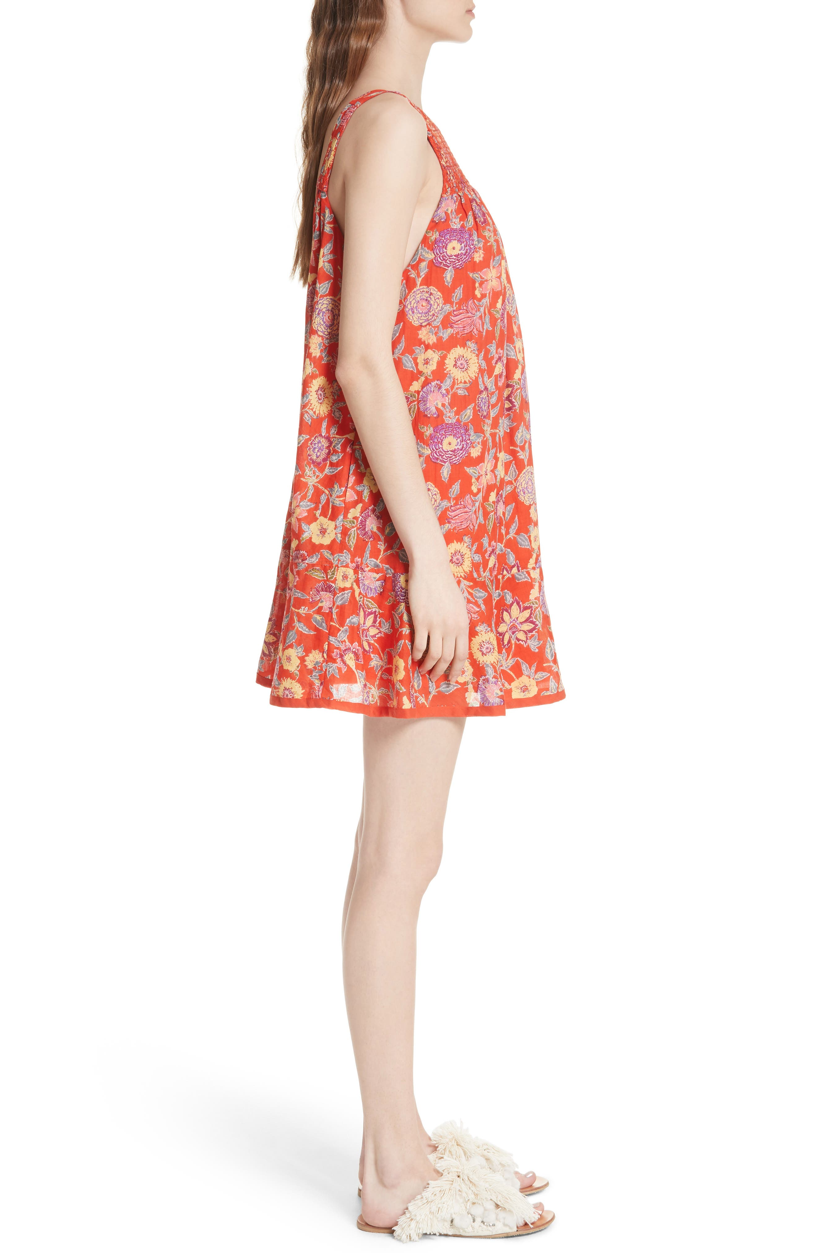 Oh Baby Floral Minidress,                             Alternate thumbnail 6, color,