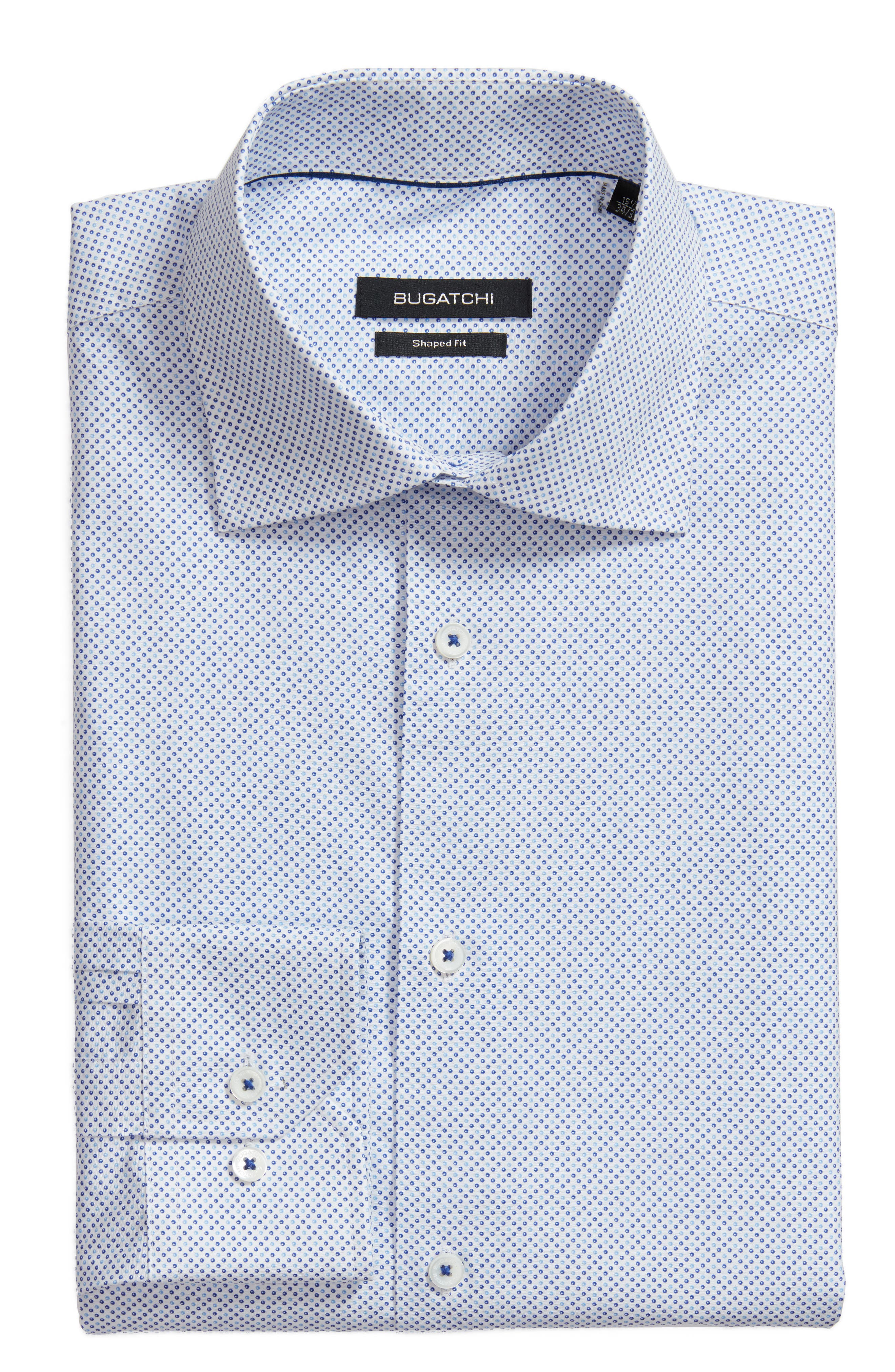 Trim Fit Dot Dress Shirt,                             Main thumbnail 1, color,                             422