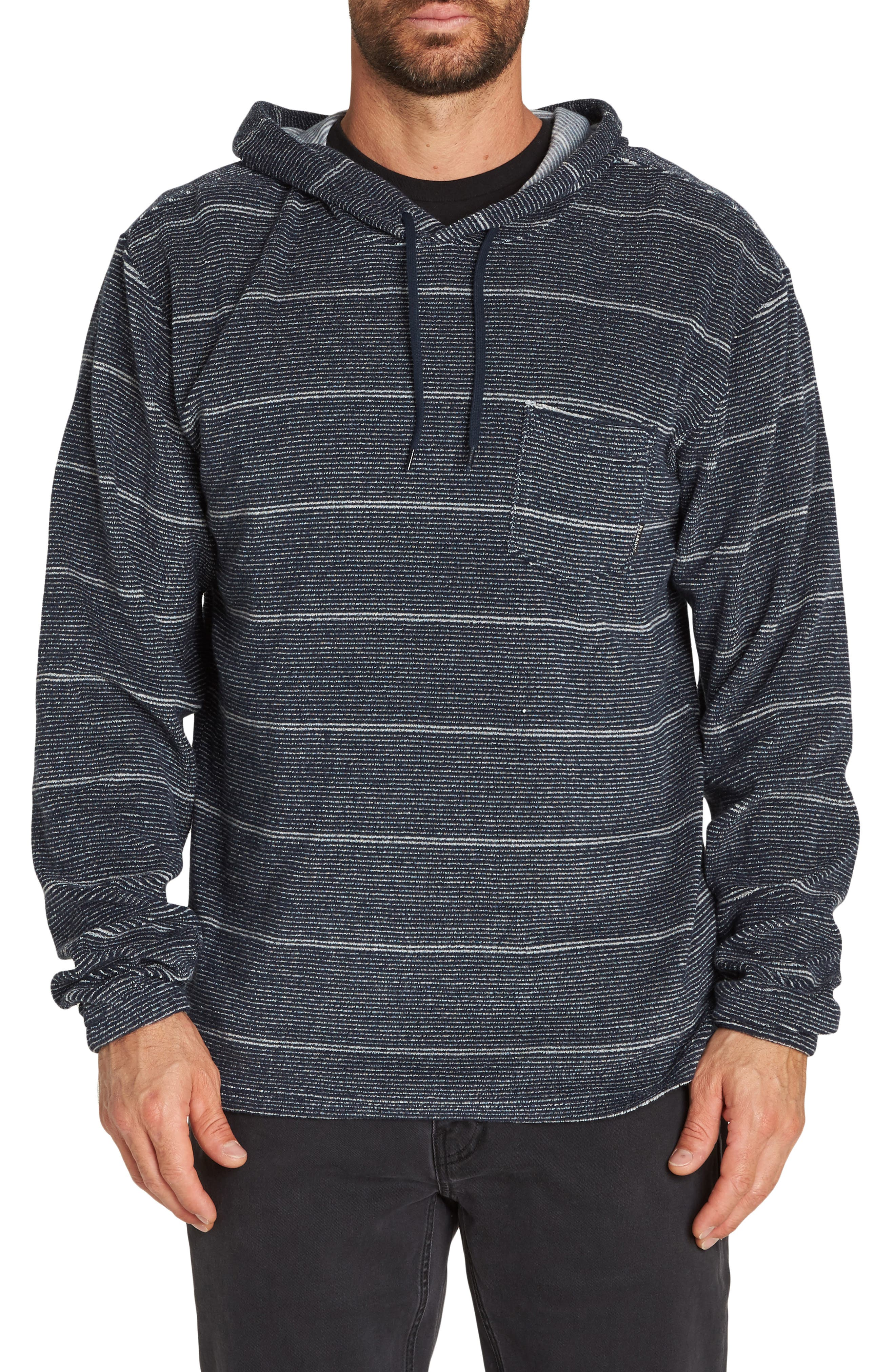 Flecker Terry Pullover Hoodie,                         Main,                         color, NAVY