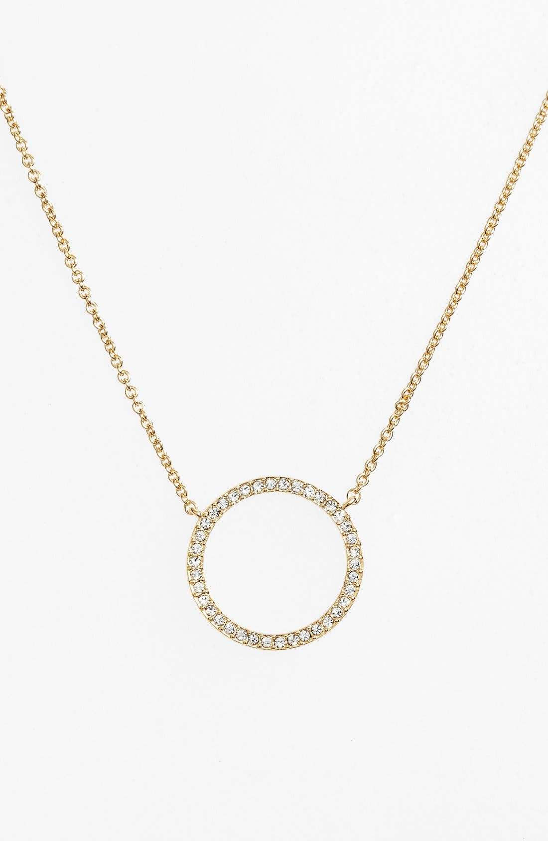 Circle Pendant Necklace,                         Main,                         color, GOLD