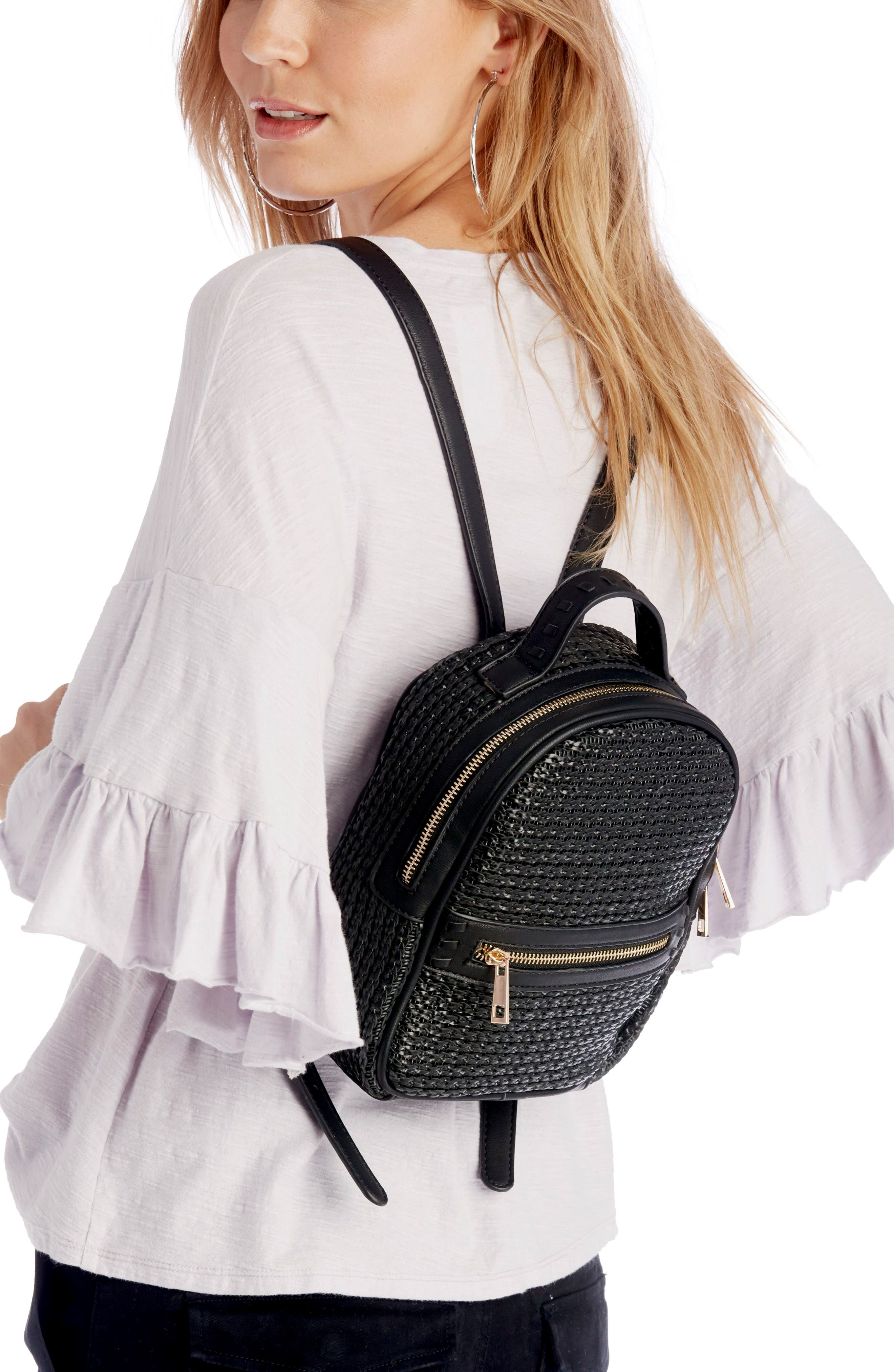 Nikole Faux Leather Backpack,                             Alternate thumbnail 2, color,                             001
