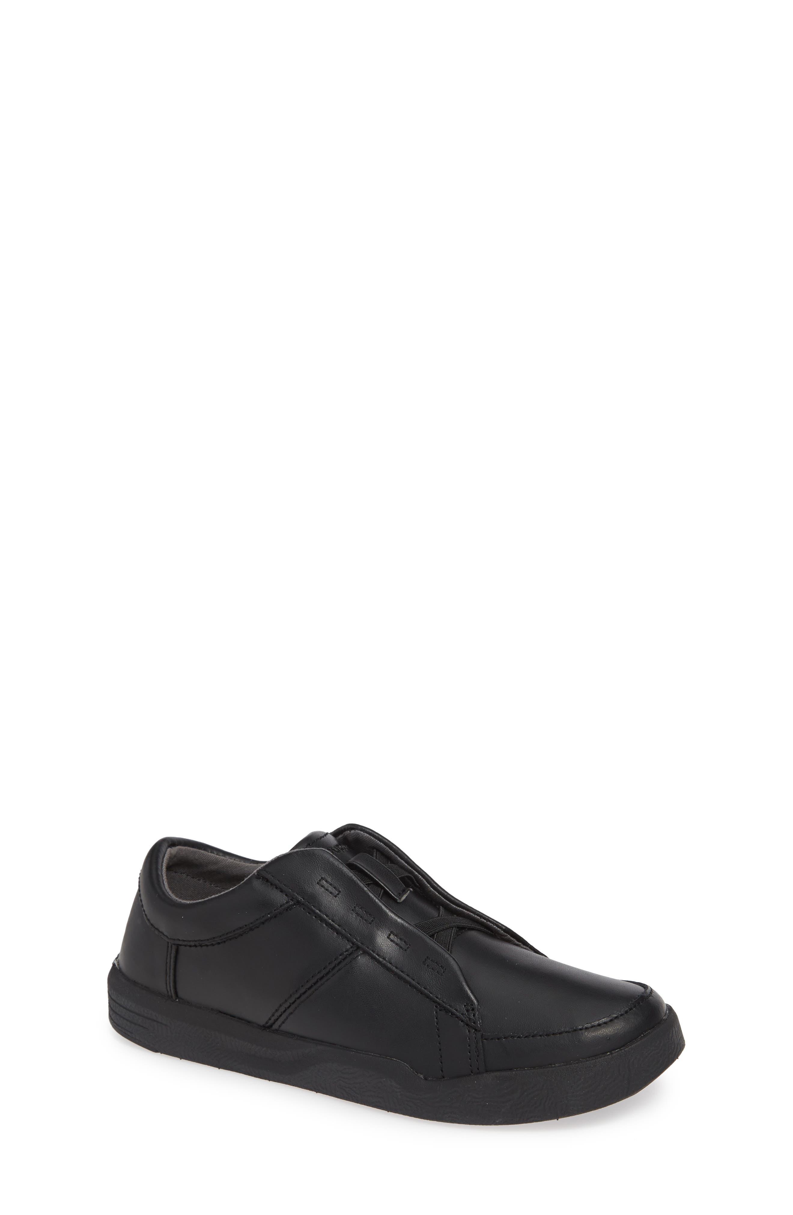Layden Genius Leather Sneaker,                         Main,                         color, BLACK/ BLACK