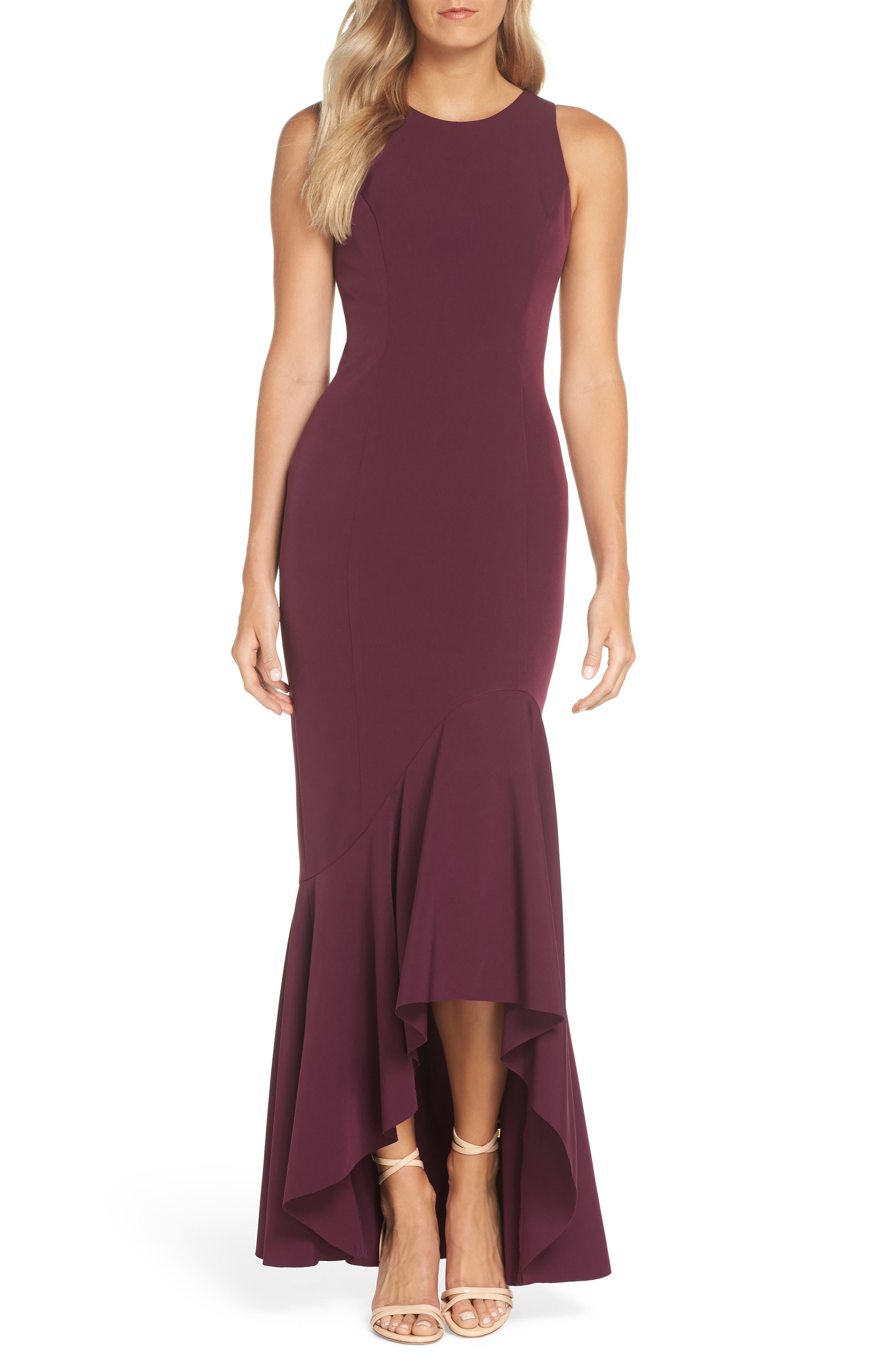 Vince Camuto Laguna Crepe Gown, Purple
