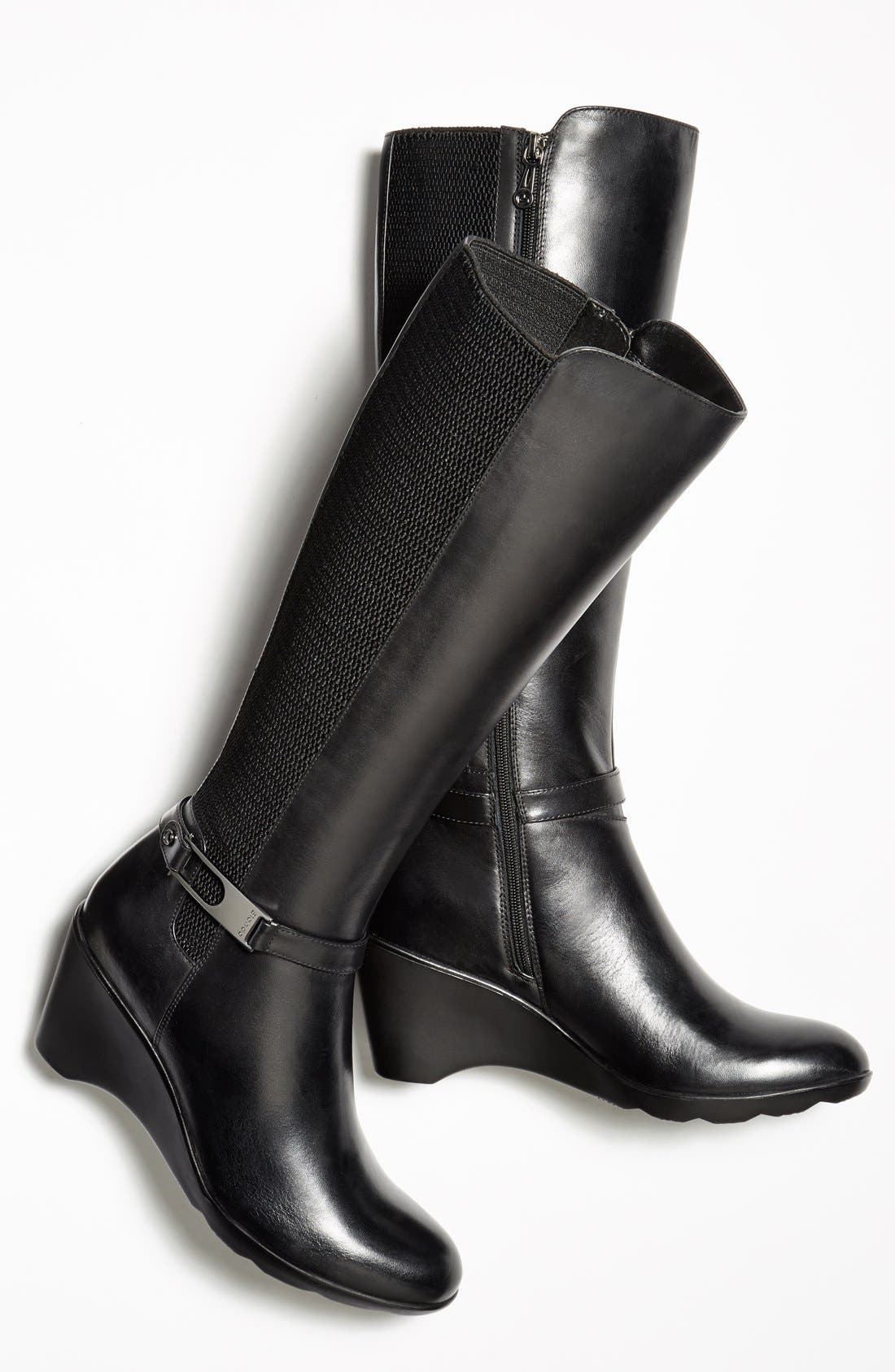 'Laina' Waterproof Boot,                             Alternate thumbnail 6, color,                             001
