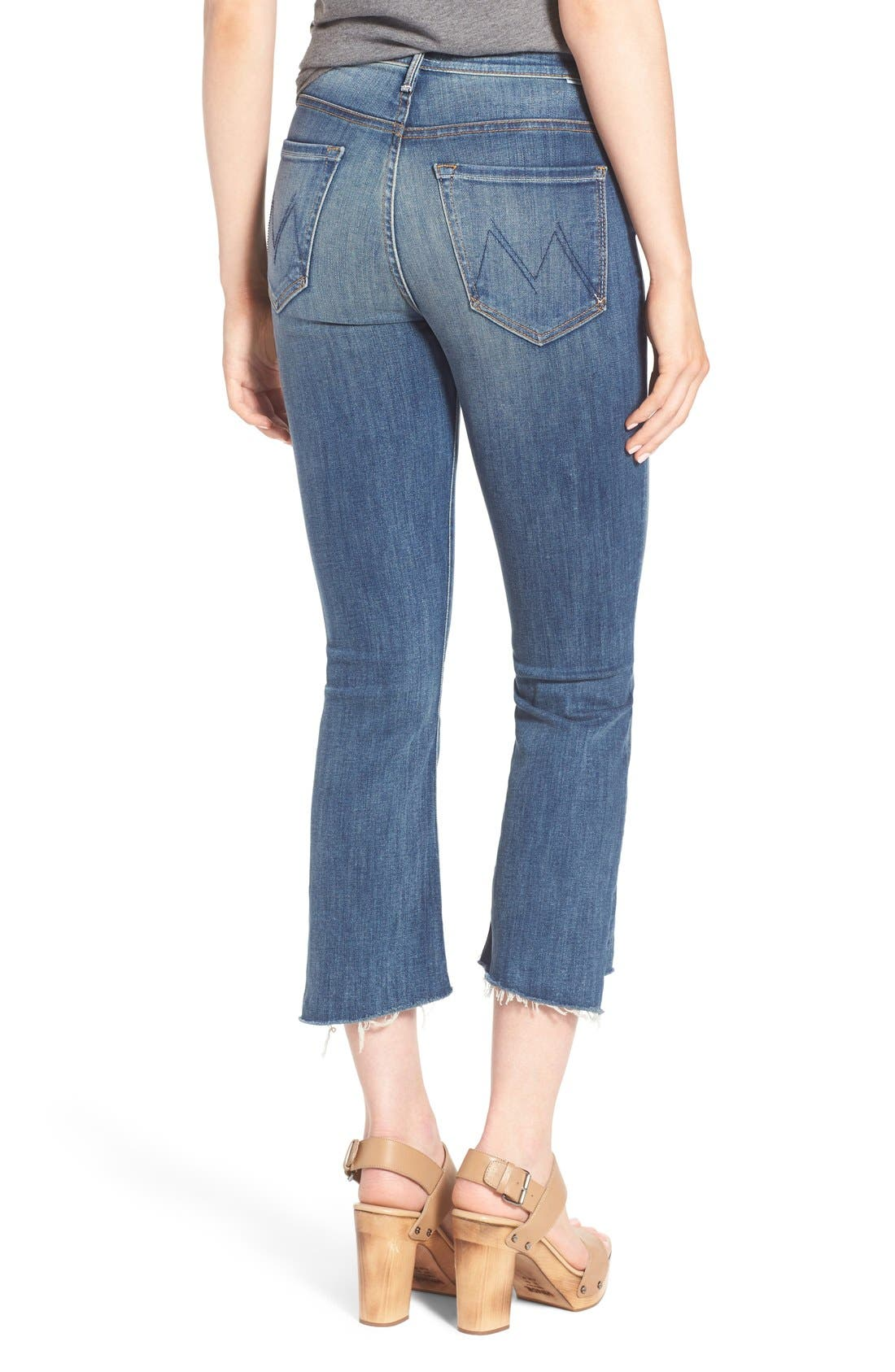 'The Insider' Crop Step Fray Jeans,                             Alternate thumbnail 3, color,                             420
