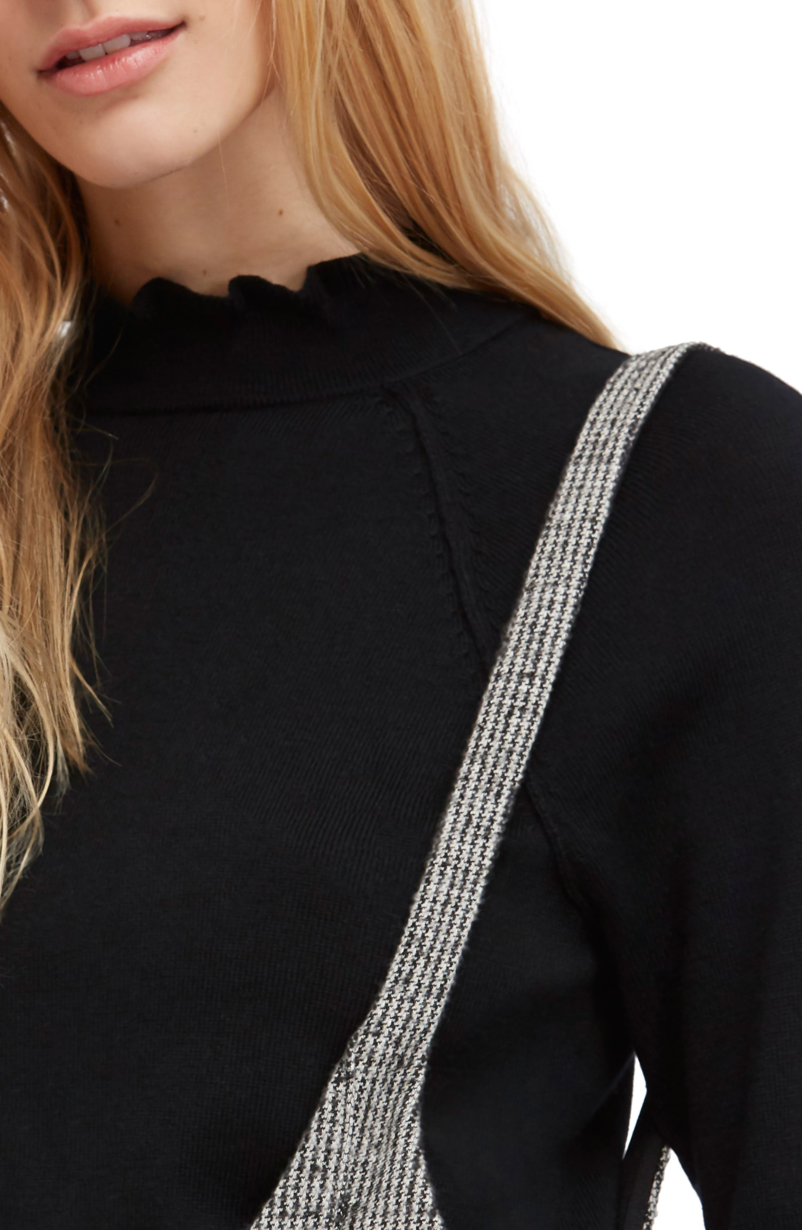 Needle & Thread Merino Wool Sweater,                             Alternate thumbnail 4, color,                             BLACK