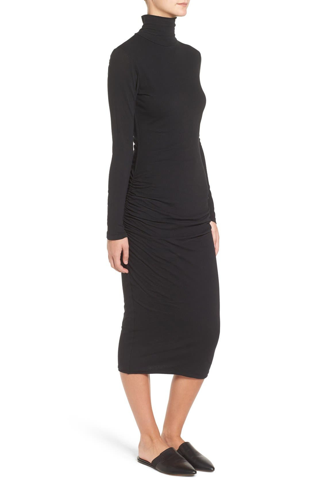 Turtleneck Midi Dress,                             Alternate thumbnail 5, color,