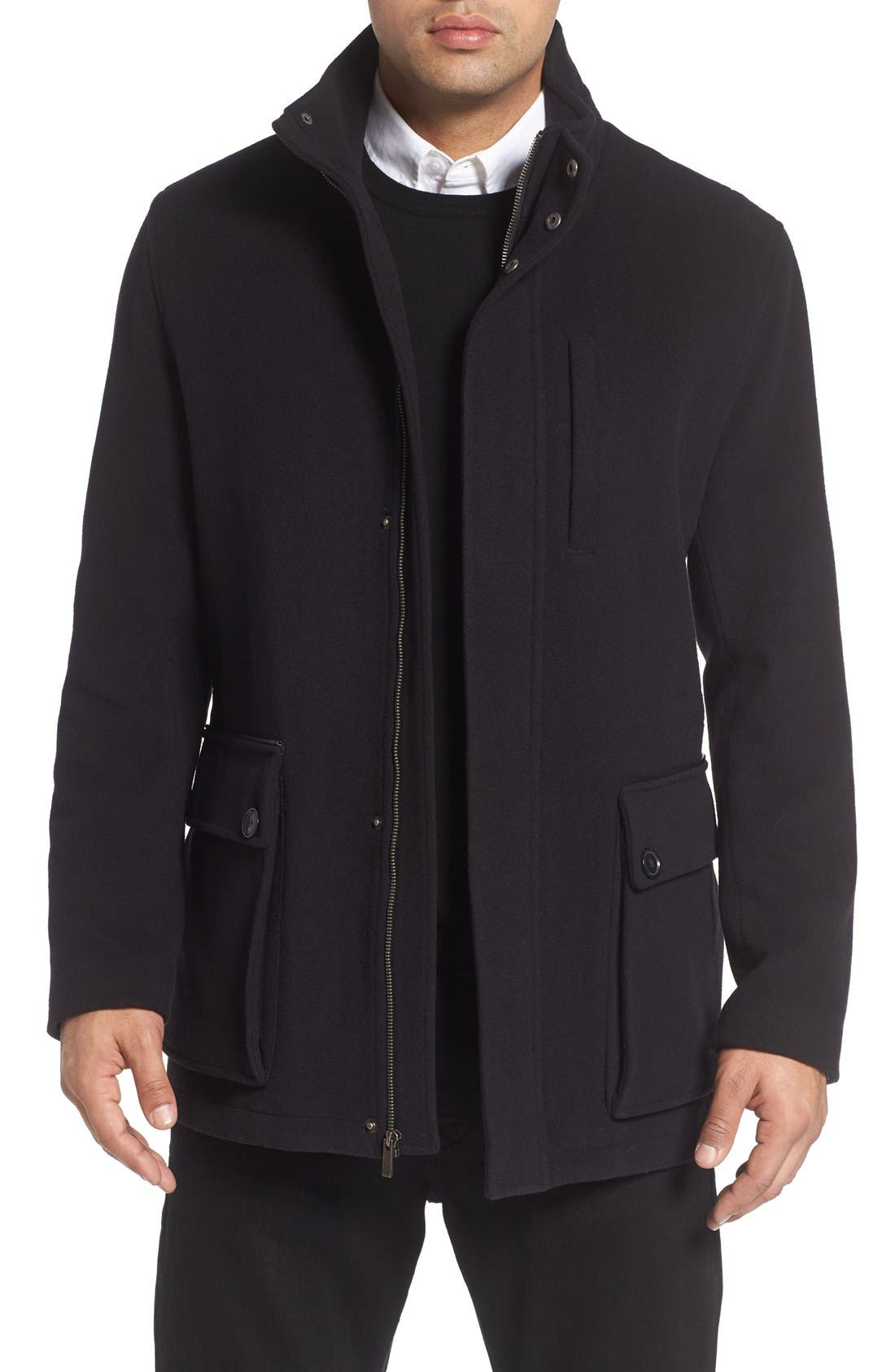 Wool Blend Car Coat,                             Main thumbnail 1, color,