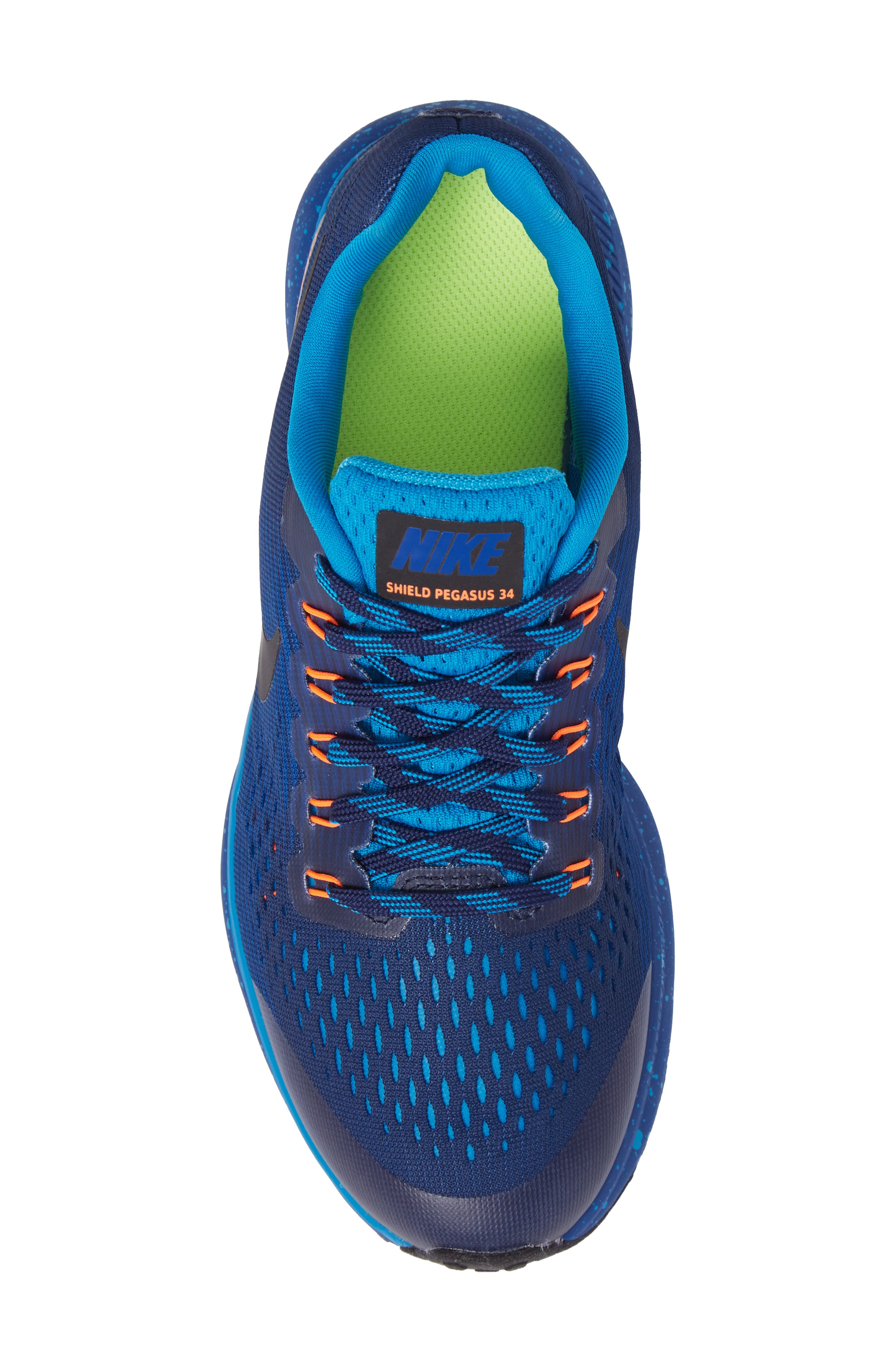 Zoom Pegasus 34 Water Repellent Shield Sneaker,                             Alternate thumbnail 10, color,