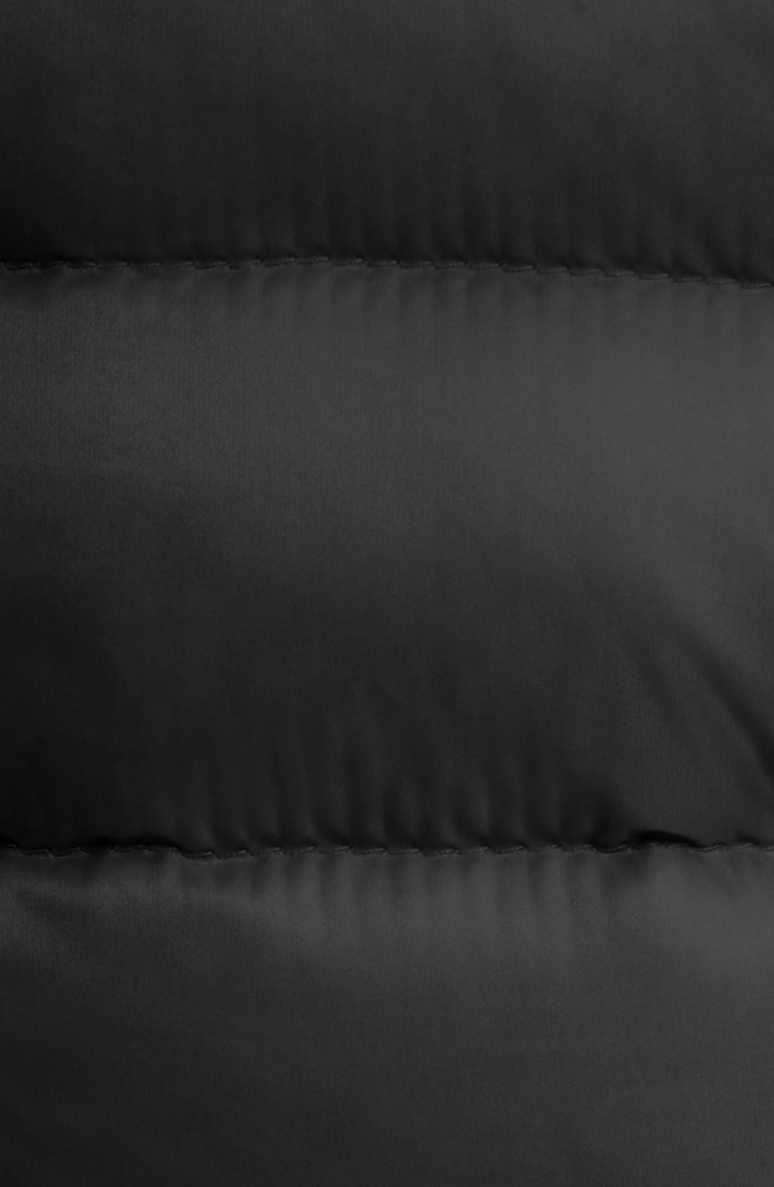'Liane' Water Resistant Short Down Vest,                             Alternate thumbnail 3, color,                             BLACK