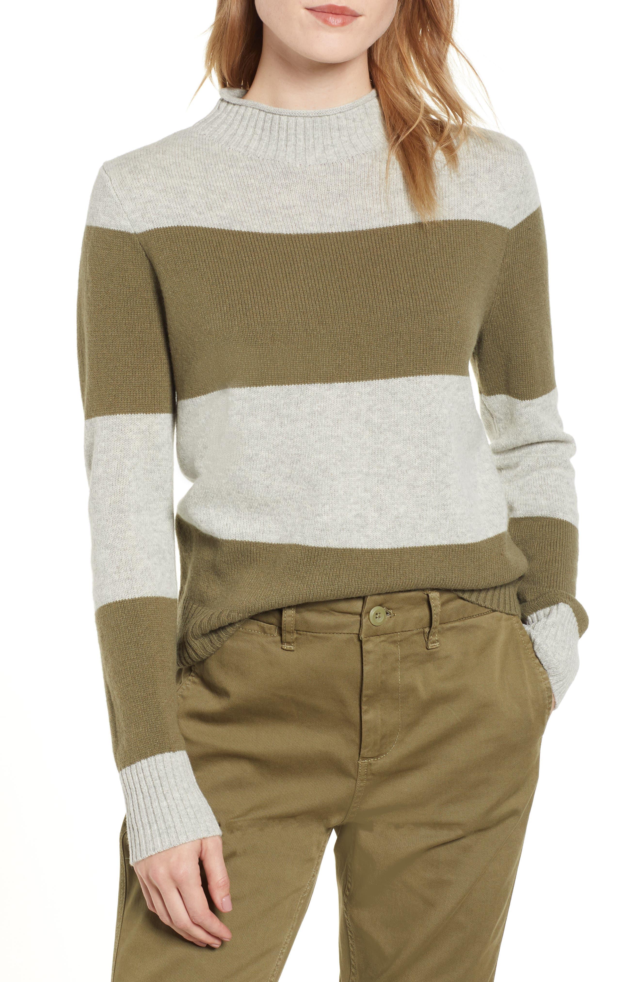 1988 Stripe Roll Neck Sweater