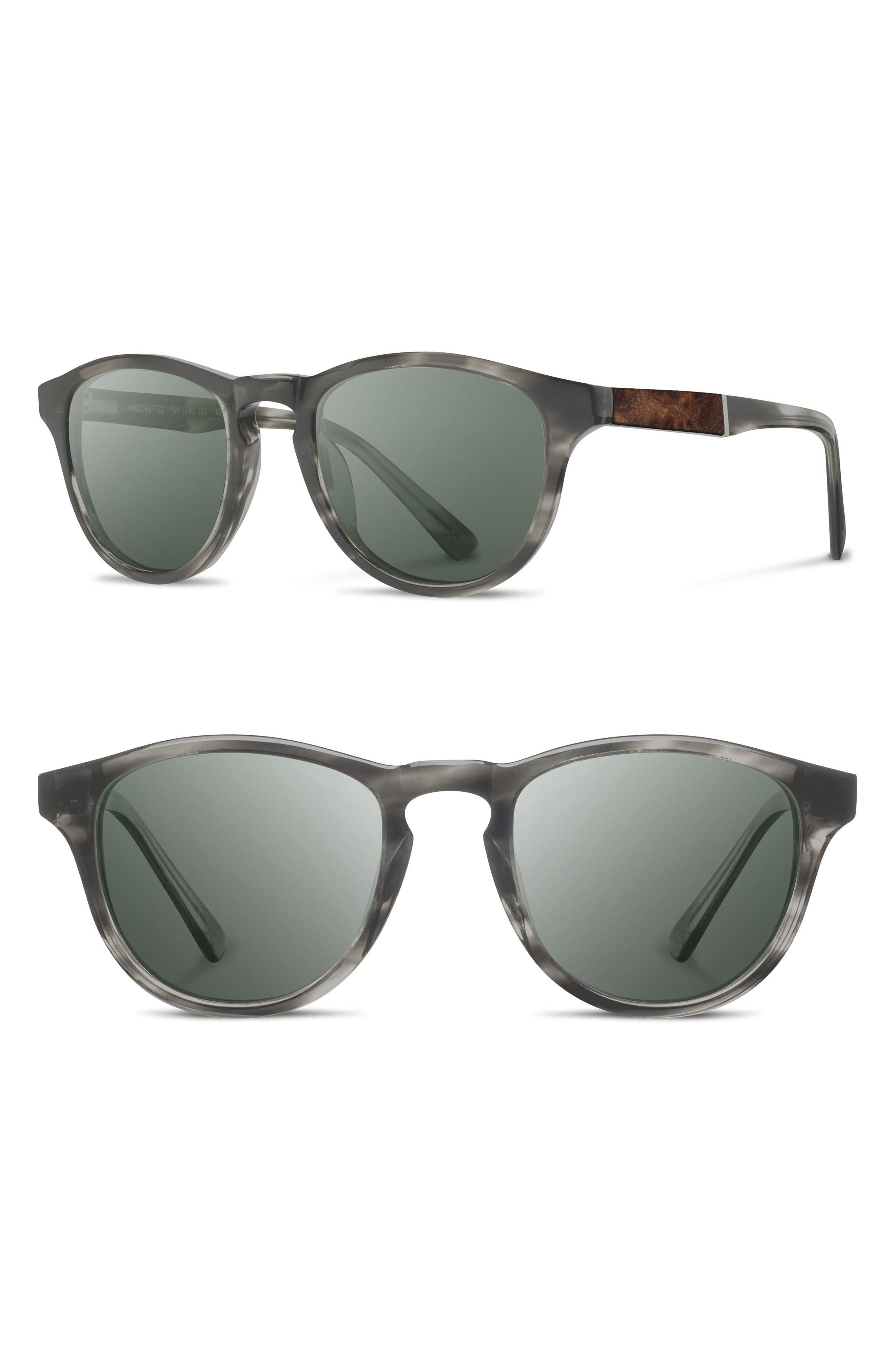 'Francis' 49mm Sunglasses,                         Main,                         color, MATTE GREY/ ELM/ G15