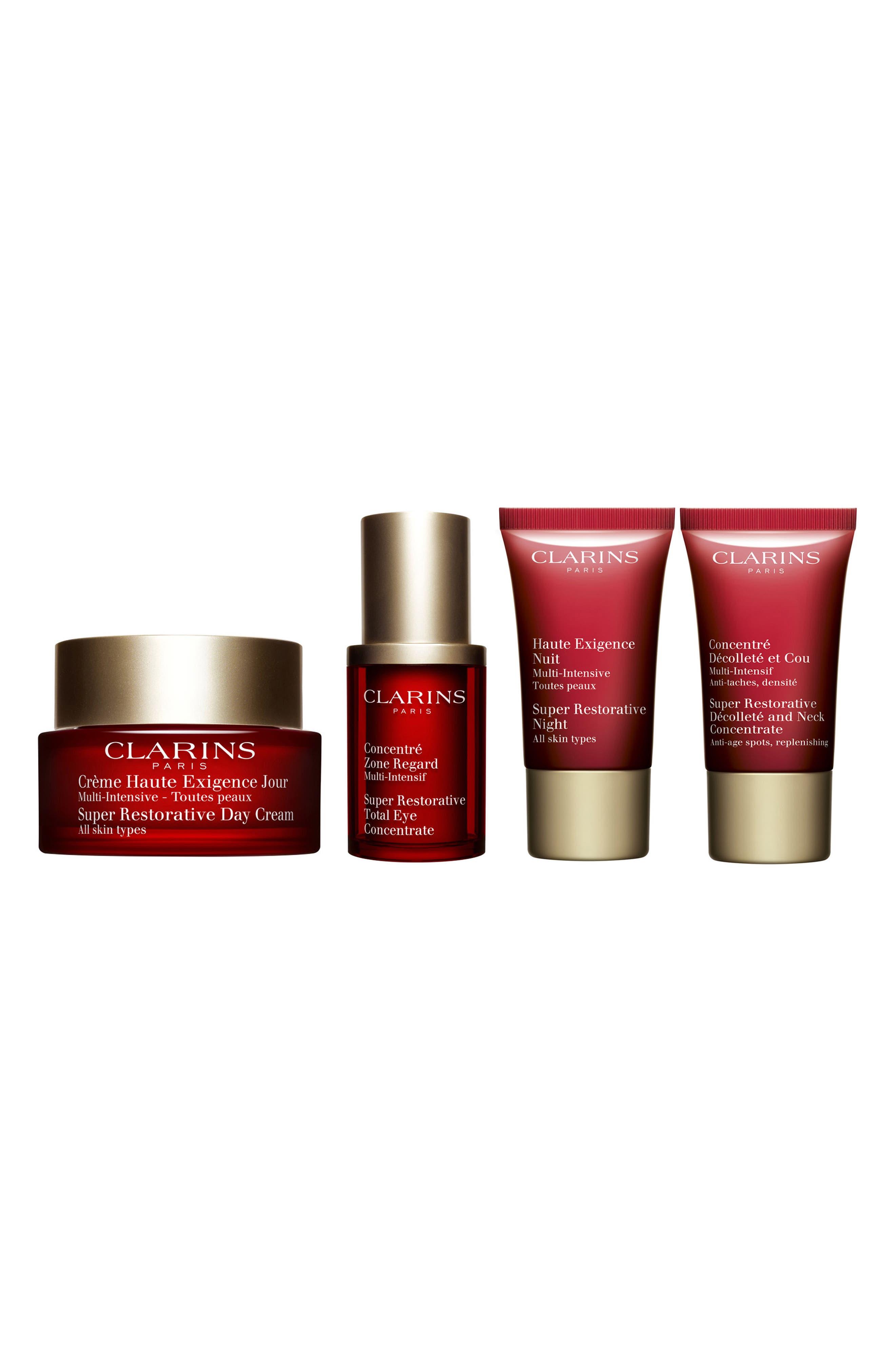 Super Restorative Skin Care Set,                             Main thumbnail 1, color,                             000